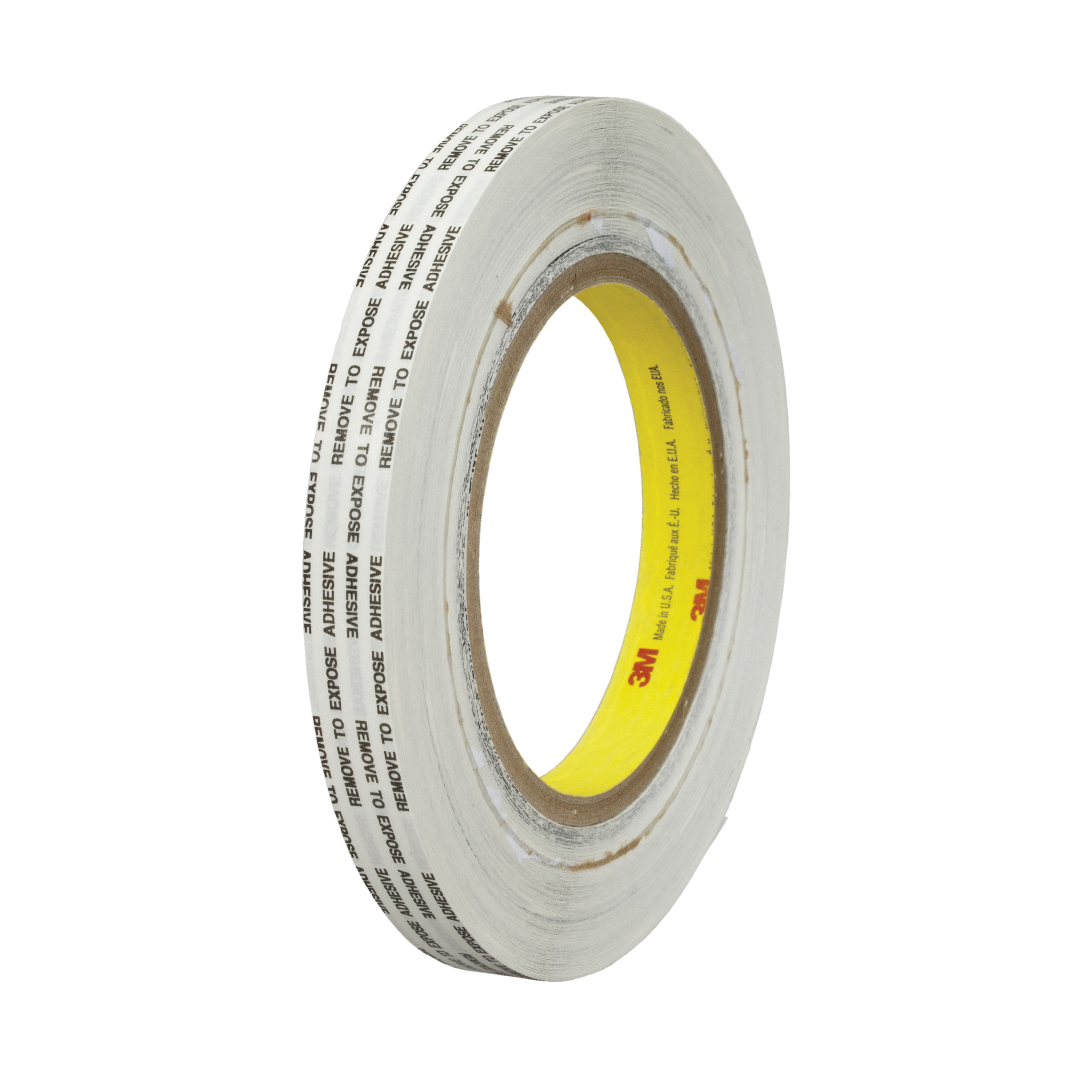 3M™ 021200-43223 Extended Liner Adhesive Transfer Tape, 1000 yd L x 1 in W, 2 mil THK, 2 mil 340 Acrylic Adhesive, Translucent
