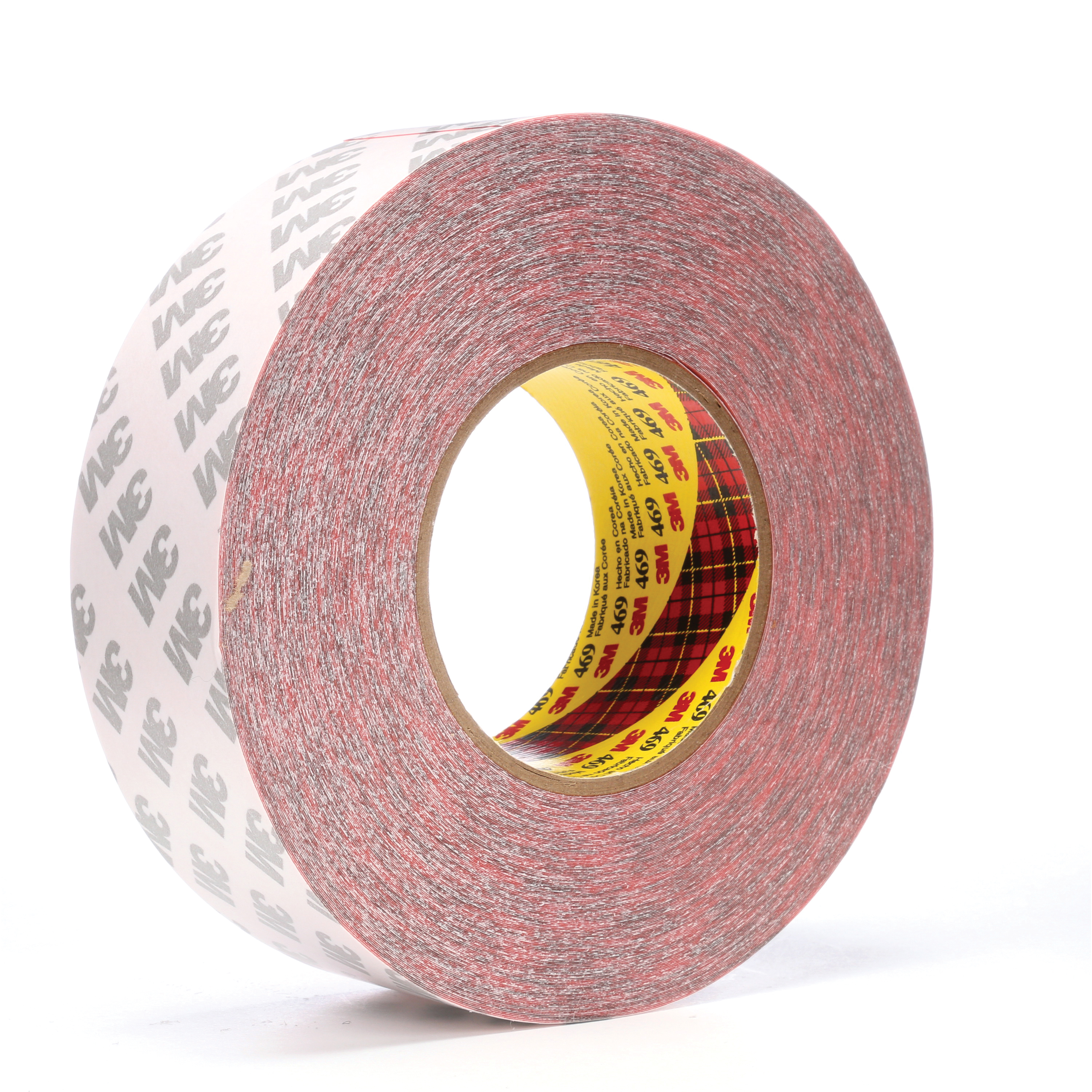 3M™ 021200-38389 Non-Repulpable Double Coated Splicing Tape, 60 yd L x 2 in W, 5.5 mil THK, 340 Acrylic Adhesive, Tissue Paper Backing, Red