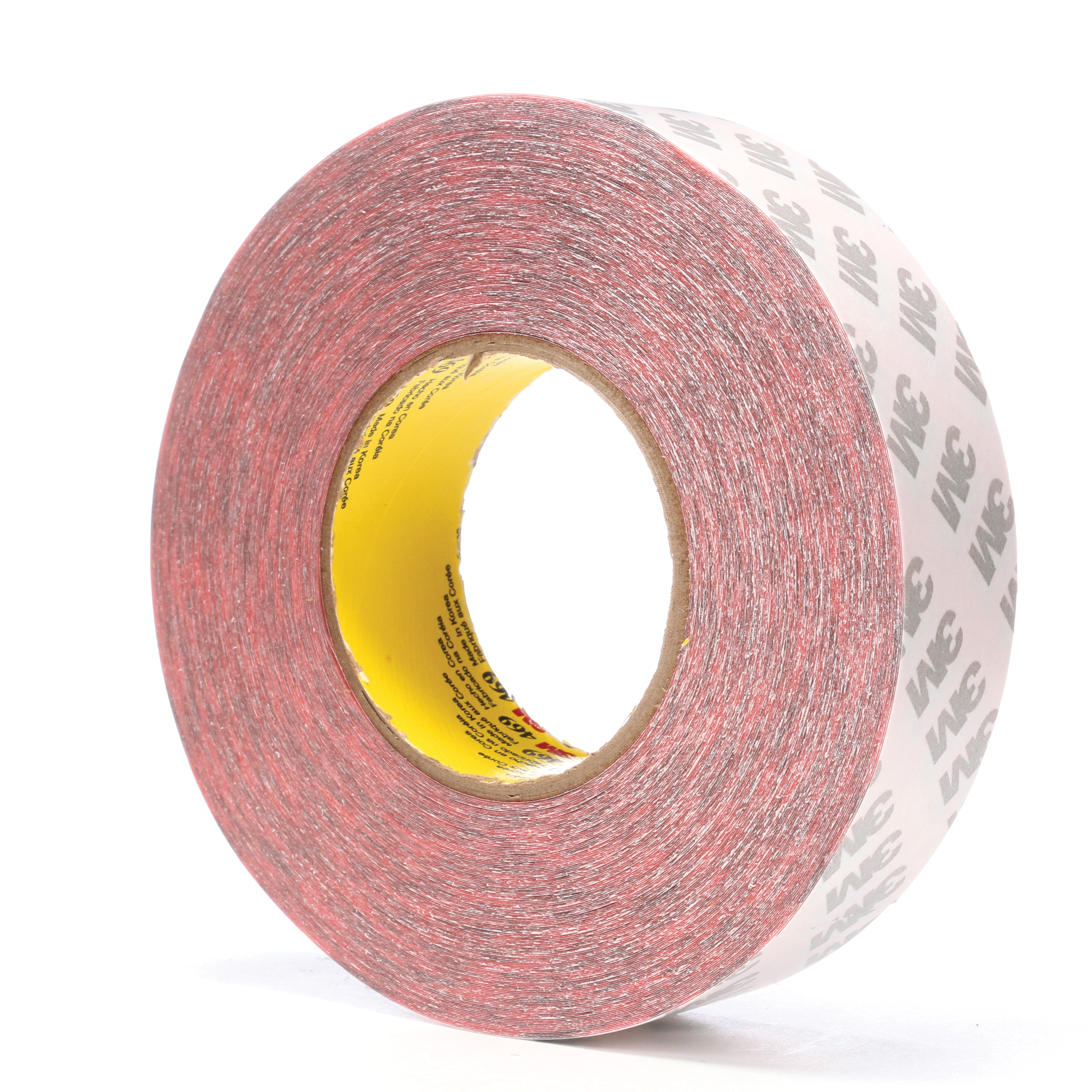 3M™ 021200-38390 Non-Repulpable Double Coated Splicing Tape, 60 yd L x 1-1/2 in W, 5.5 mil THK, 340 Acrylic Adhesive, Tissue Paper Backing, Red