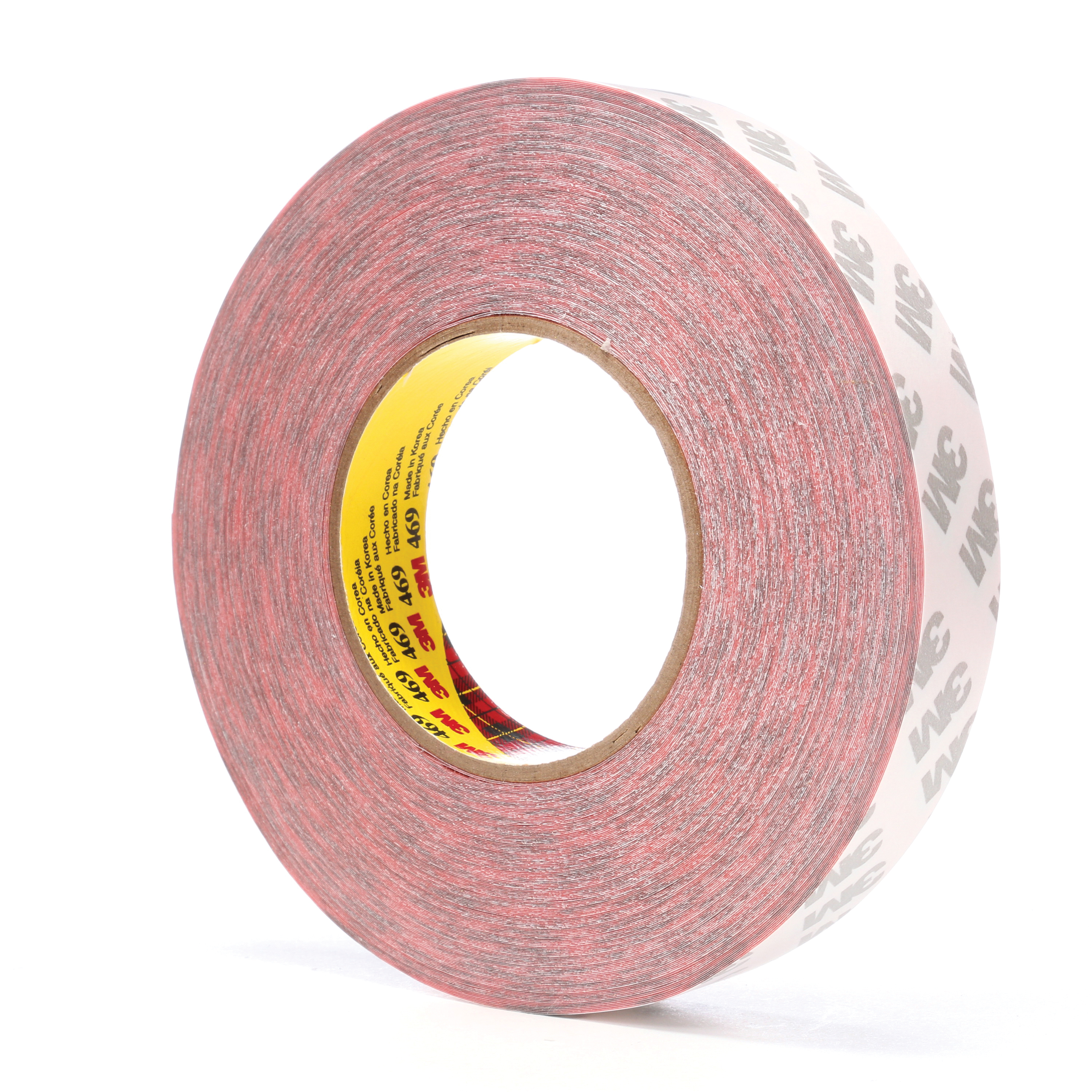 3M™ 021200-38391 Non-Repulpable Double Coated Splicing Tape, 60 yd L x 1 in W, 5.5 mil THK, 340 Acrylic Adhesive, Tissue Paper Backing, Red