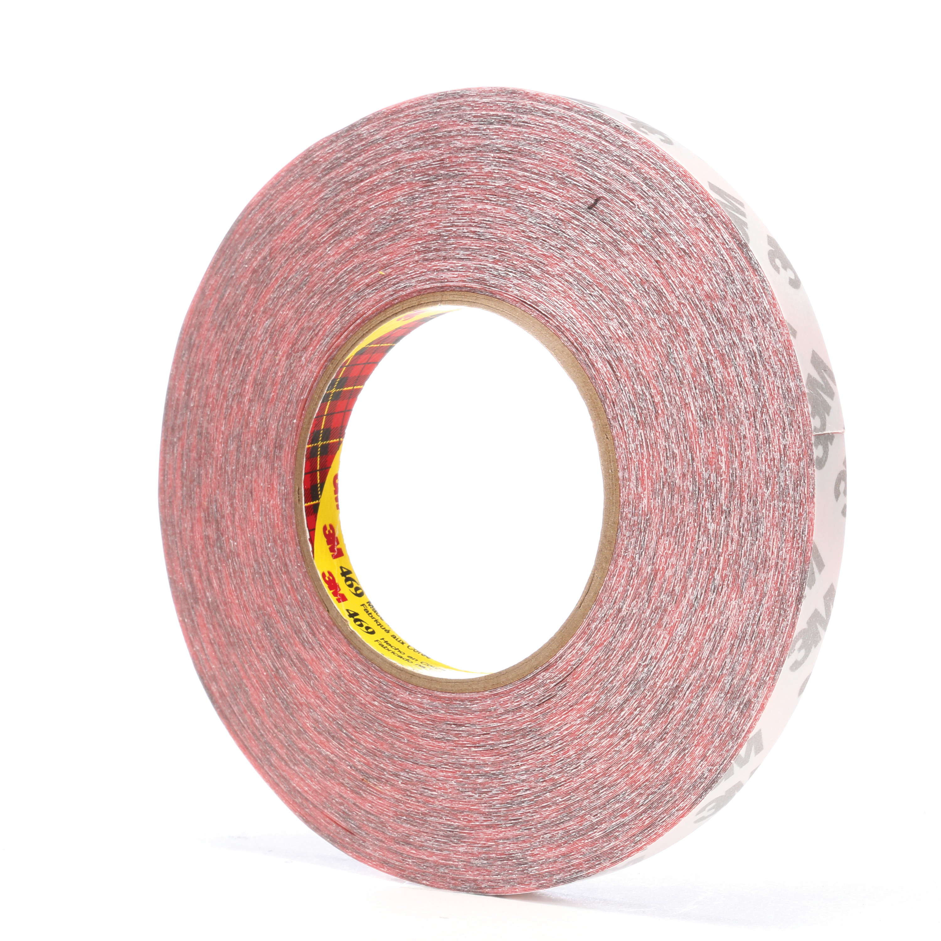 3M™ 021200-38394 Non-Repulpable Double Coated Splicing Tape, 60 yd L x 1/2 in W, 5.5 mil THK, 340 Acrylic Adhesive, Tissue Paper Backing, Red