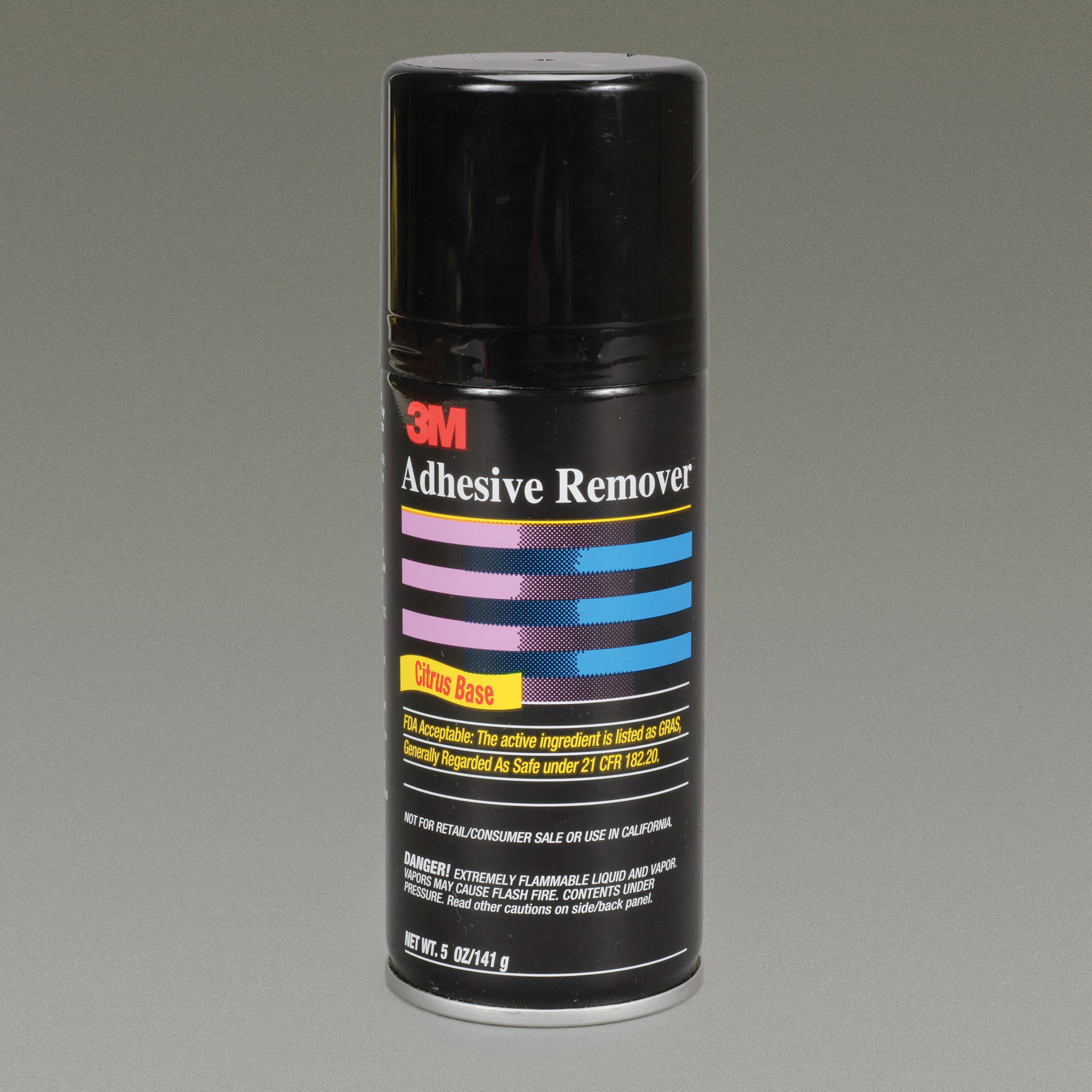 3M™ 021200-39296 ADH REM - AERO Flammable Food Grade Ready-to-Use Adhesive Remover, 6.25 fl-oz Aerosol Can, Pale Yellow
