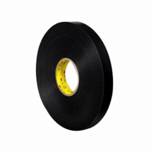 3M™ VHB™ 021200-64643 4949 High Strength Double Sided Bonding Tape, 36 yd L x 1/2 in W, 0.045 in THK, General Purpose Acrylic Adhesive, Acrylic Foam Backing, Black