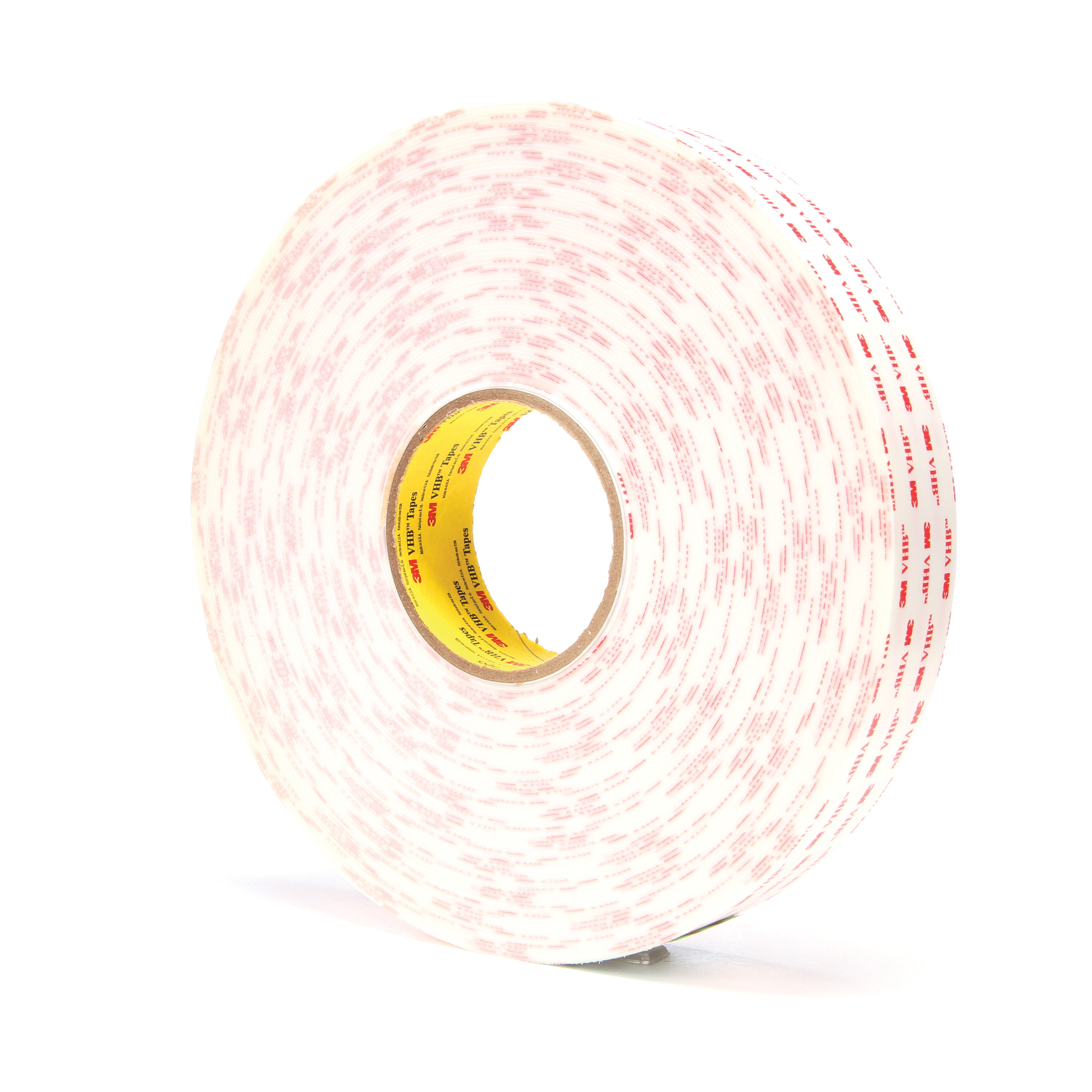3M™ VHB™ 021200-39392 Pressure Sensitive Double Sided Bonding Tape, 36 yd L x 1-1/2 in W, 0.045 in THK, General Purpose Acrylic Adhesive, Acrylic Foam Backing, White