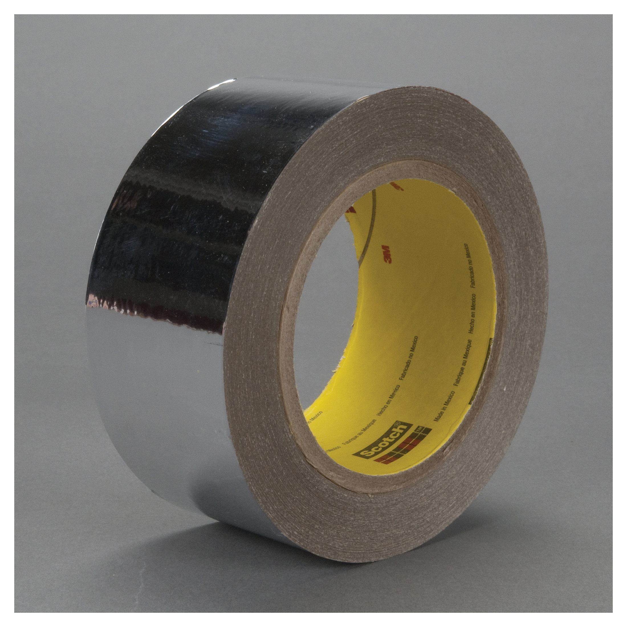3M™ 021200-39641 Double Sided Metalized Tape, 72 yd L x 1 in W, 2 mil THK, Acrylic Adhesive, 0.9 mil Polyester Backing, Silver