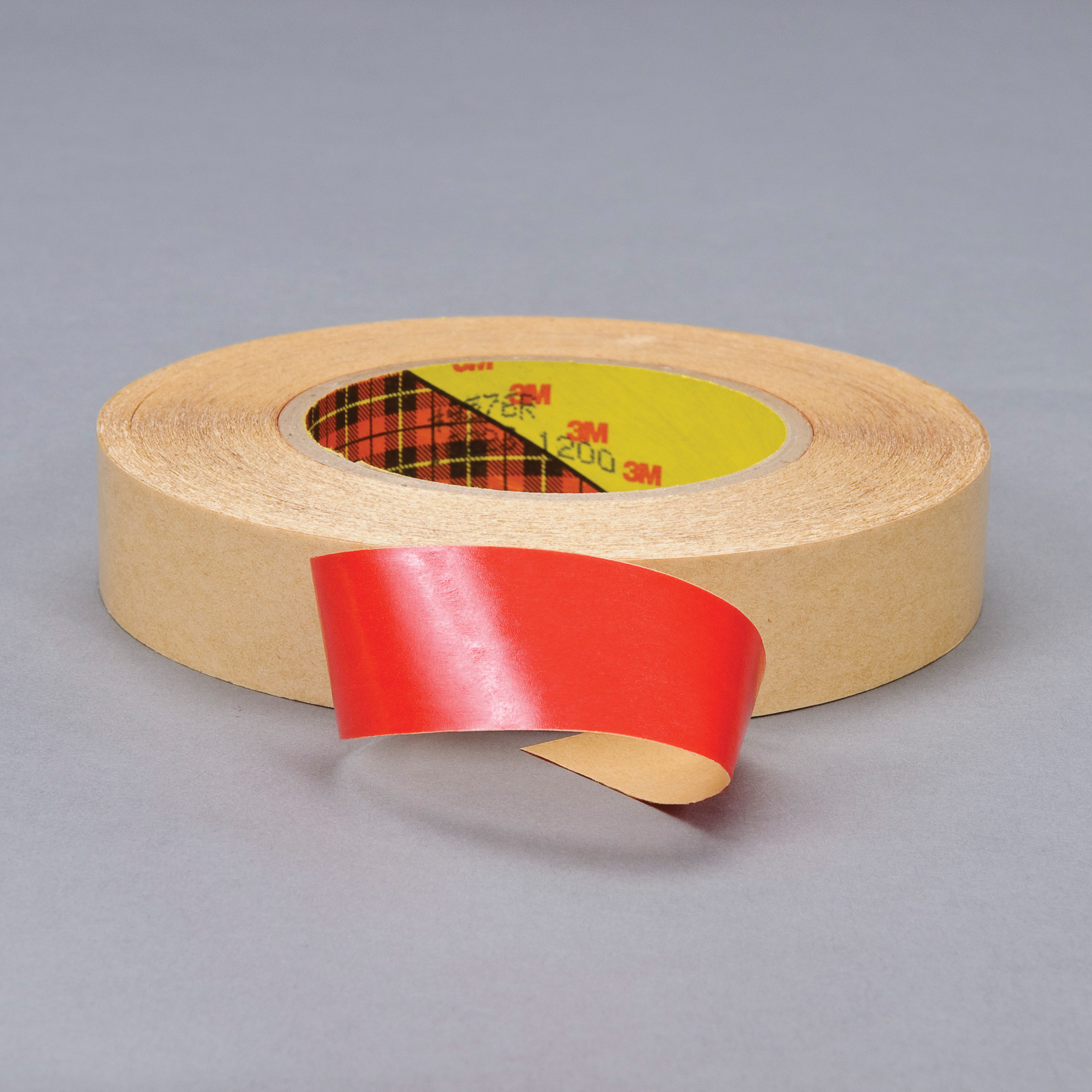 3M™ 021200-40473 Double Coated Tape, 60 yd L x 2 in W, 4 mil THK, 400HT Acrylic Adhesive, Polypropylene Backing, Red