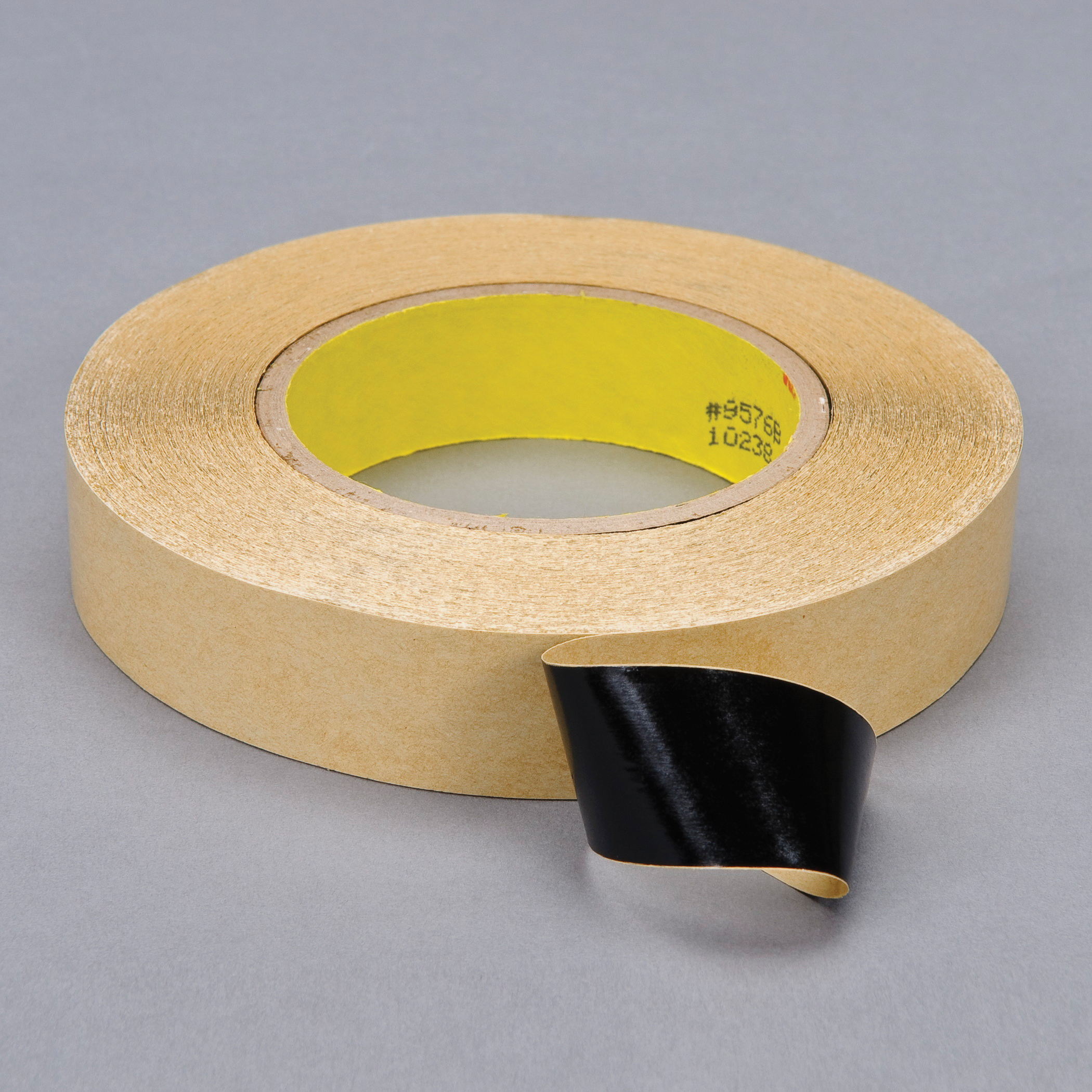3M™ 021200-40476 Double Coated Tape, 60 yd L x 1 in W, 4 mil THK, 400HT Acrylic Adhesive, Polypropylene Backing, Black