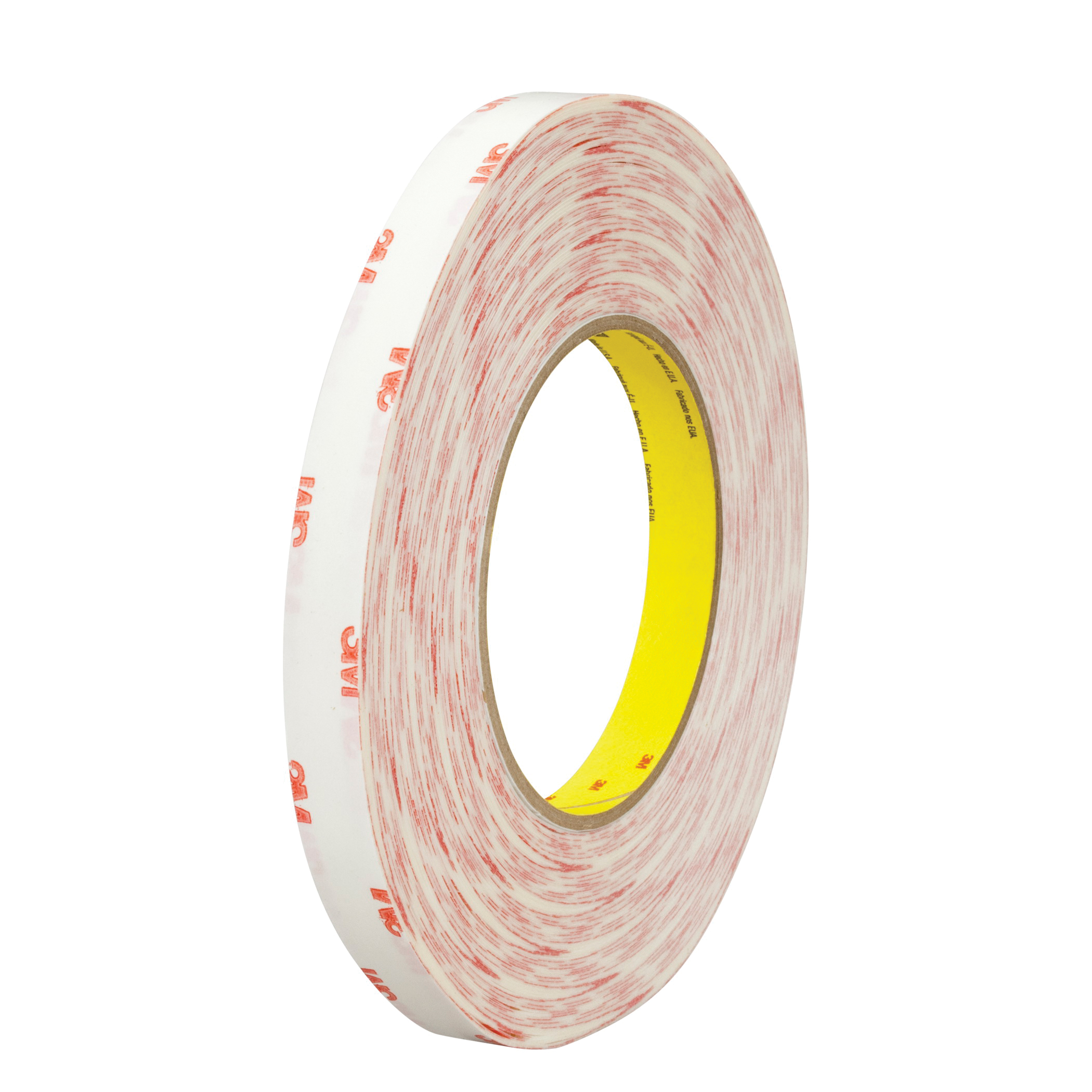 3M™ 021200-40611 Double Coated Tape, 72 yd L x 3/4 in W, 5 mil THK, 340 High Tack Acrylic Adhesive, Tissue Paper Backing, Translucent