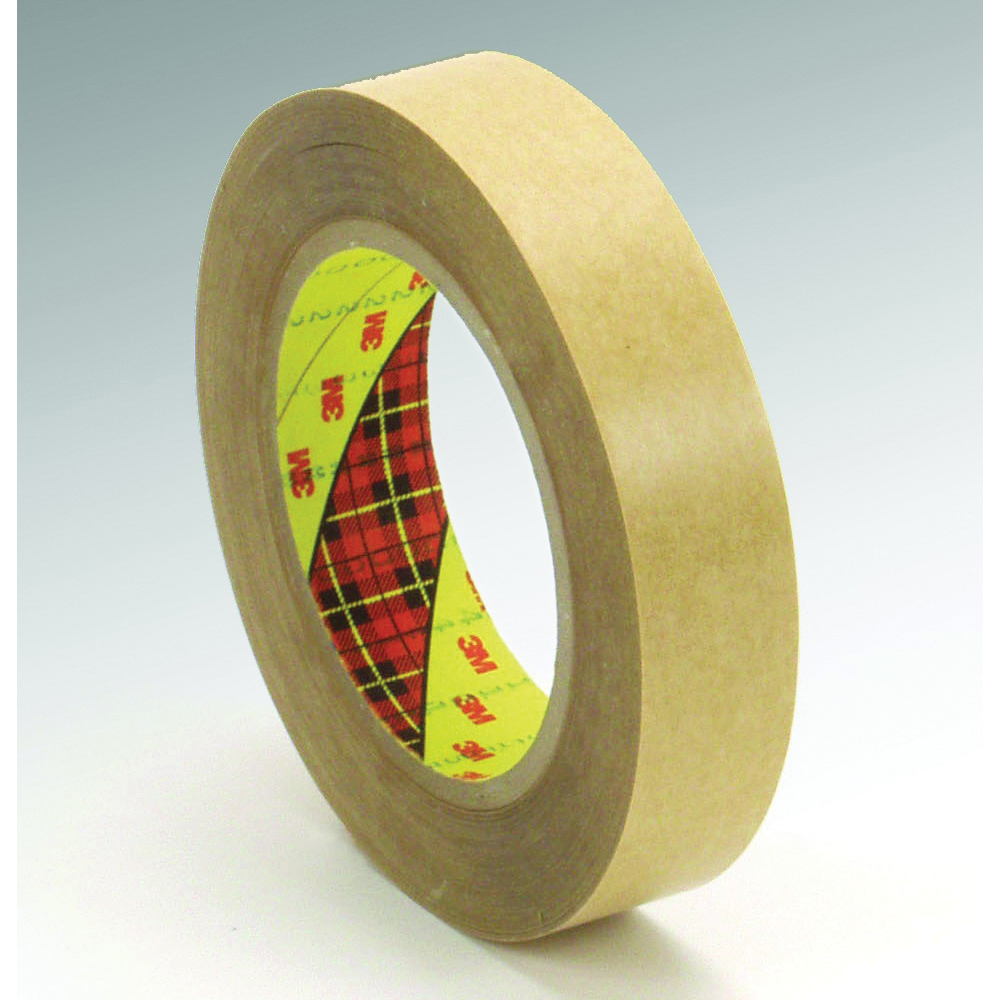 3M™ 021200-03325 Non-Repulpable Double Coated Splicing Tape, 36 yd L x 18 in W, 4 mil THK, 400HT Acrylic Adhesive, Polyester Film Backing, Clear