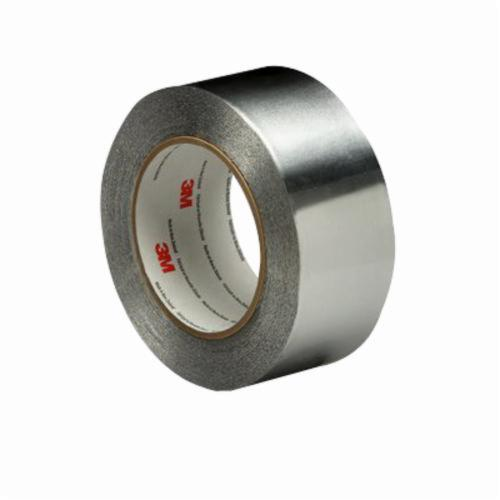 3M™ 051138-95072 Premium Performance Self-Wound Foil Tape, 60 yd L x 2 in W, 4.6 mil THK, Acrylic Adhesive, 2.8 mil Aluminum Backing, Silver