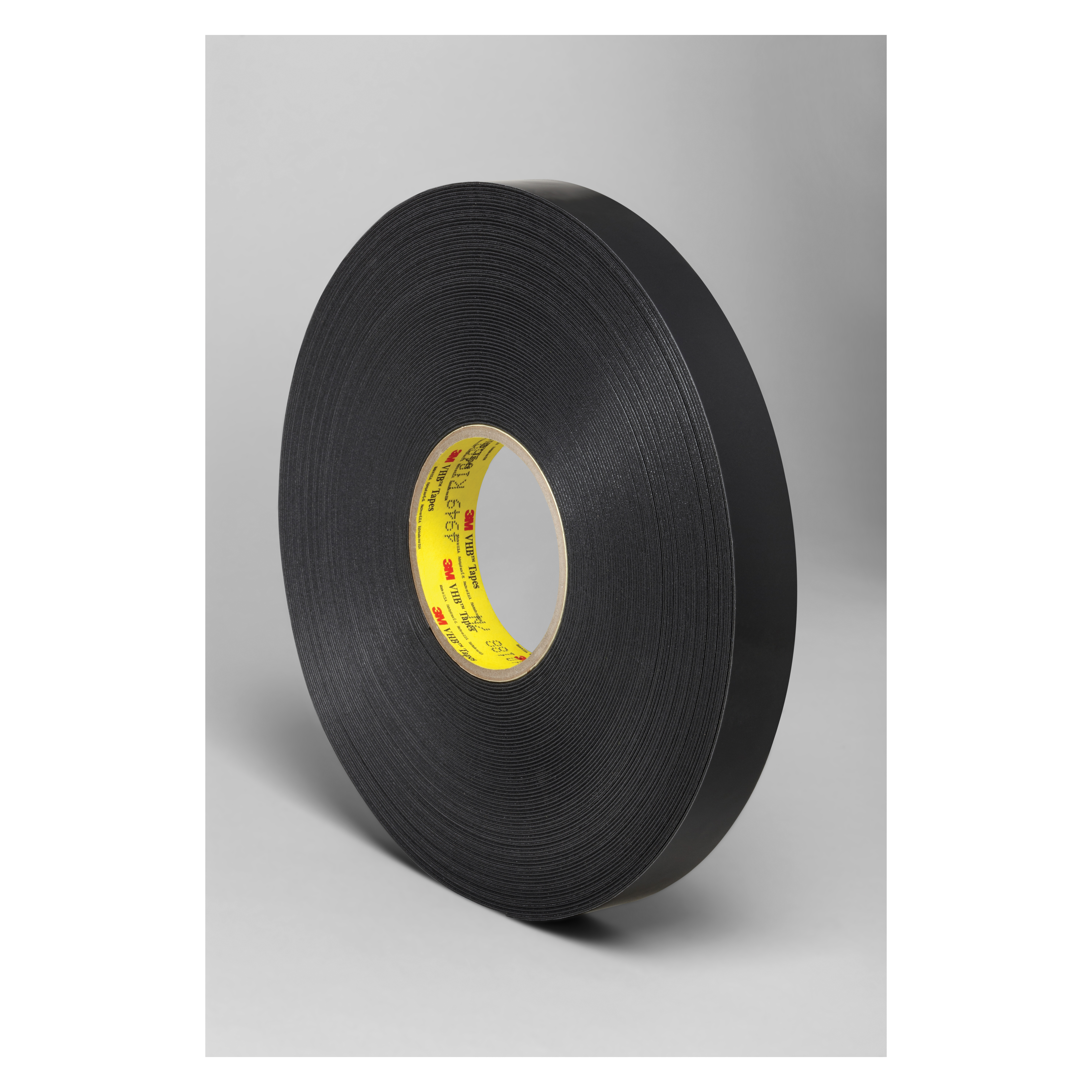 3M™ VHB™ 021200-64645 High Strength Double Sided Bonding Tape, 36 yd L x 1 in W, 0.045 in THK, General Purpose Acrylic Adhesive, Acrylic Foam Backing, Black