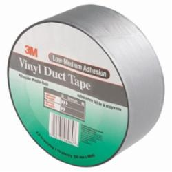 3M™ 021200-45323 General Purpose Duct Tape, 50 yd L x 49 in W, 6.5 mil THK, Rubber Adhesive, Embossed Vinyl Backing, Gray