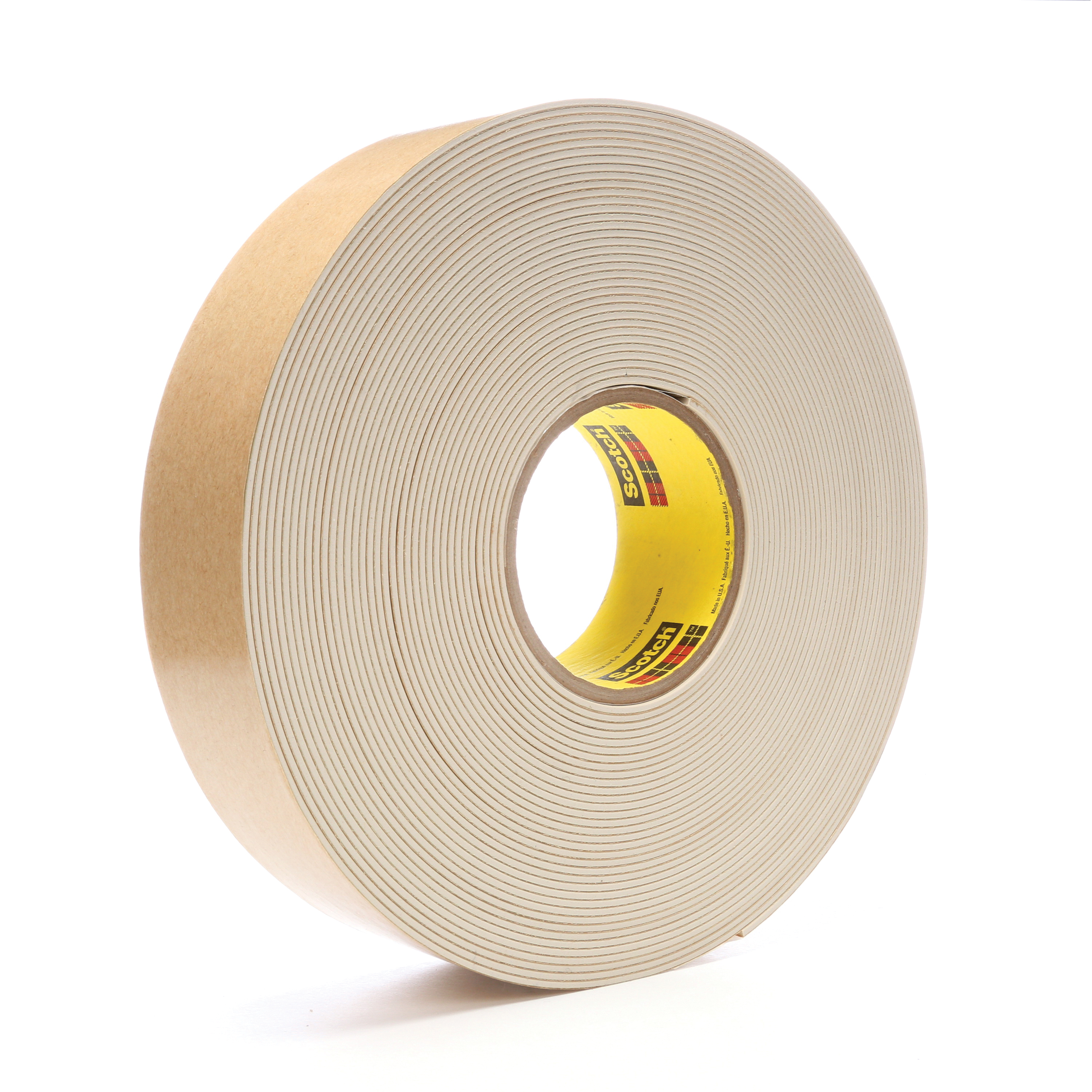 3M™ 021200-45335 Impact Stripping Tape, 20 yd L x 2 in W, 82 mil THK, Acrylic Adhesive, Rubber Backing