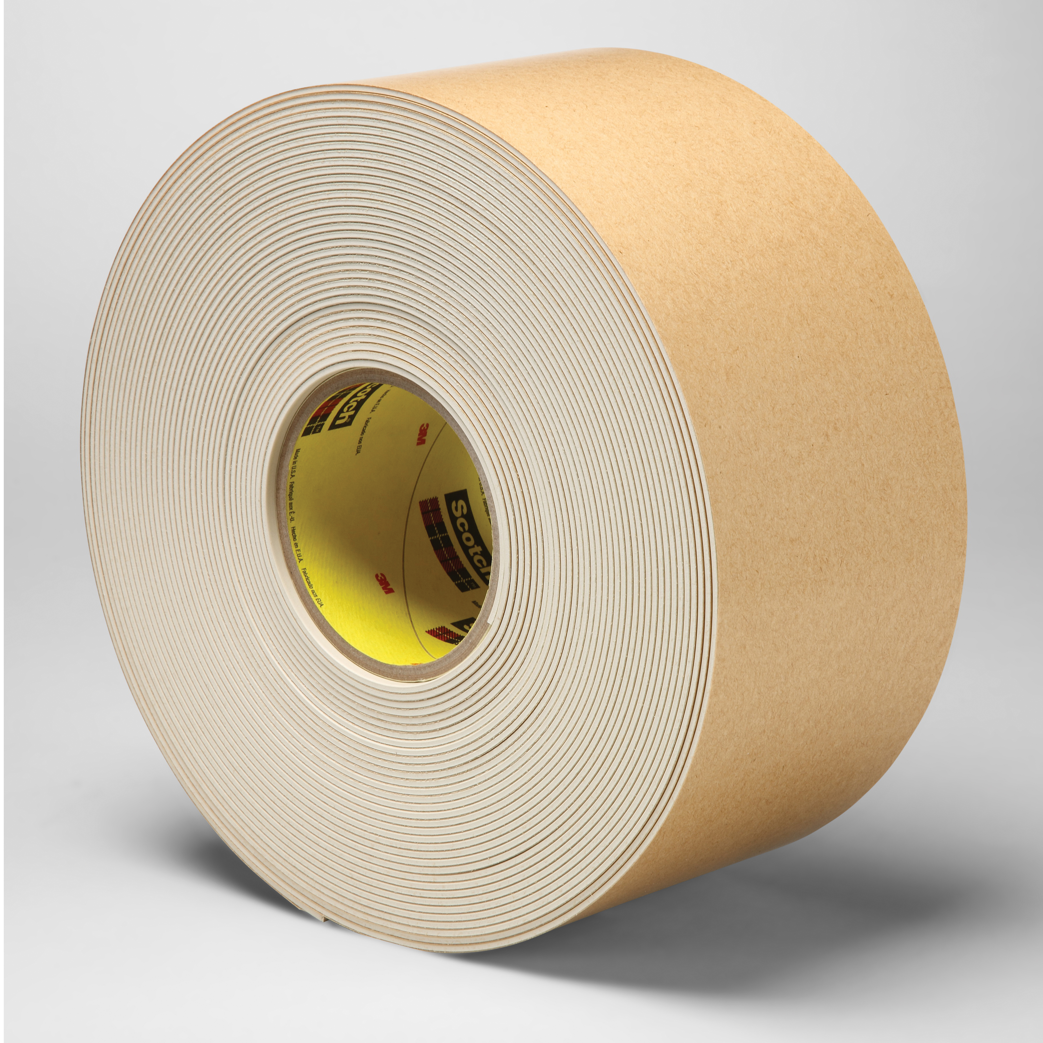 3M™ 021200-45336 Impact Stripping Tape, 20 yd L x 4 in W, 82 mil THK, Acrylic Adhesive, Rubber Backing