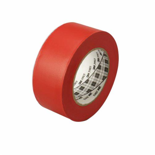 3M™ 021200-45513 General Purpose Duct Tape, 50 yd L x 49 in W, 6.5 mil THK, Rubber Adhesive, Embossed Vinyl Backing, Red