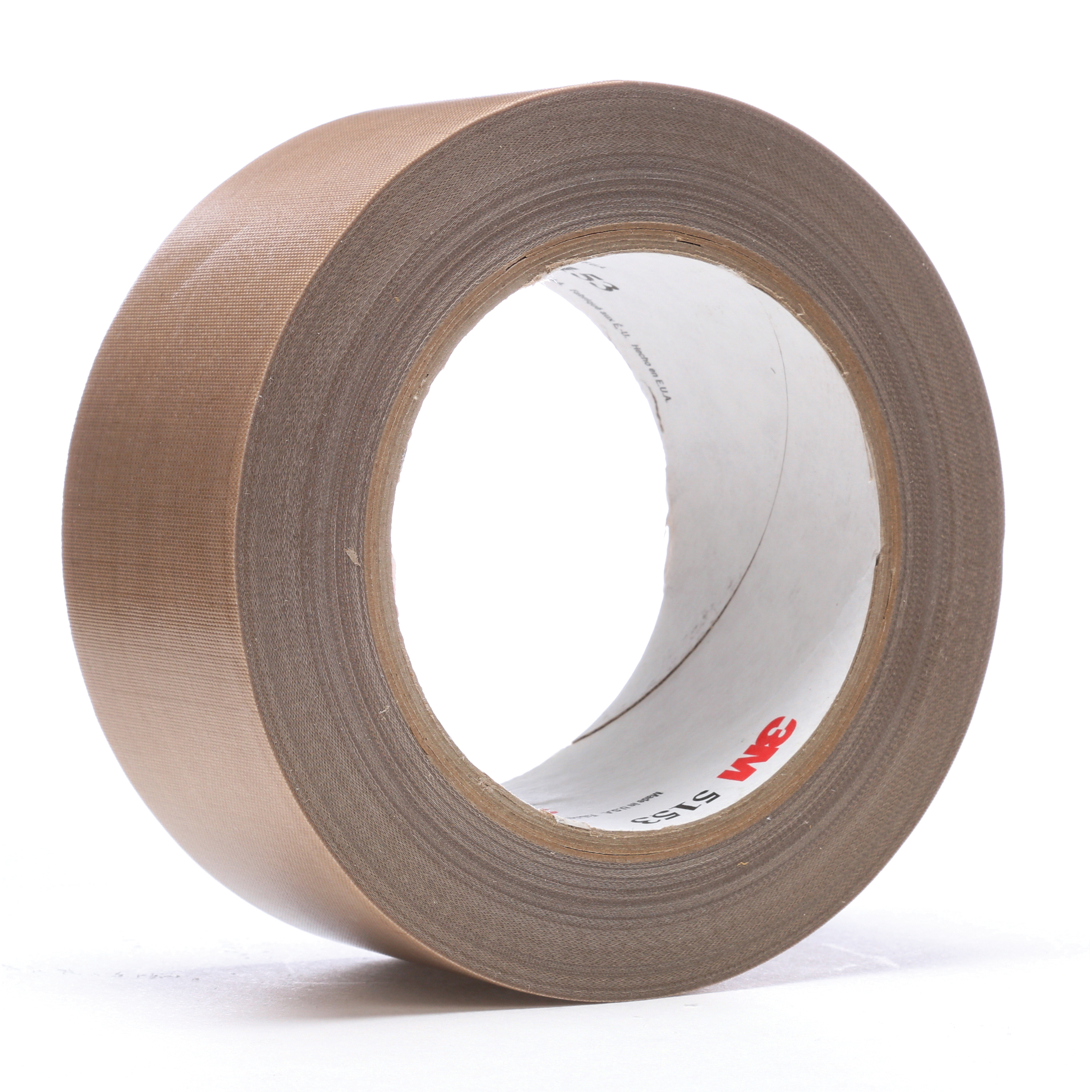 3M™ 021200-45637 General Purpose Glass Cloth Tape, 36 yd L x 2 in W, 8 mil THK, Silicon Adhesive, Glass Cloth Impregnated with PTFE Backing, Light Brown