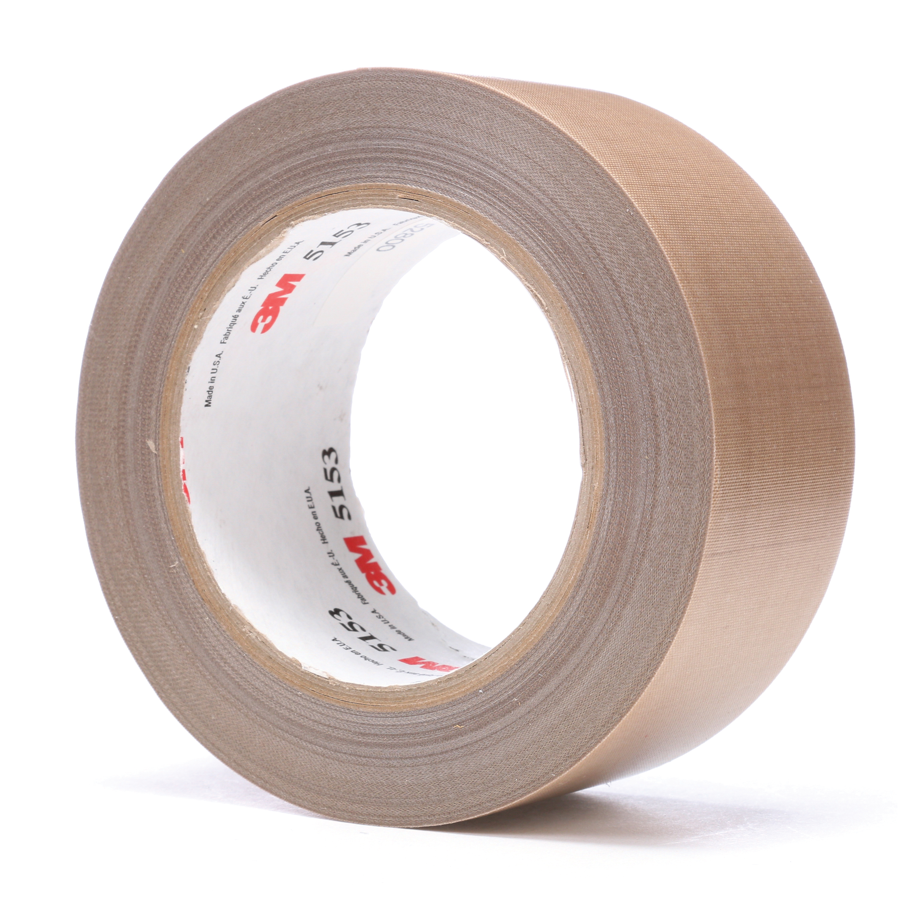 3M™ 021200-45637 General Purpose Glass Cloth Tape, 36 yd L x 2 in W, 8 mil THK, Silicone Adhesive, 5.8 mil Glass Cloth Impregnated with PTFE Backing, Light Brown