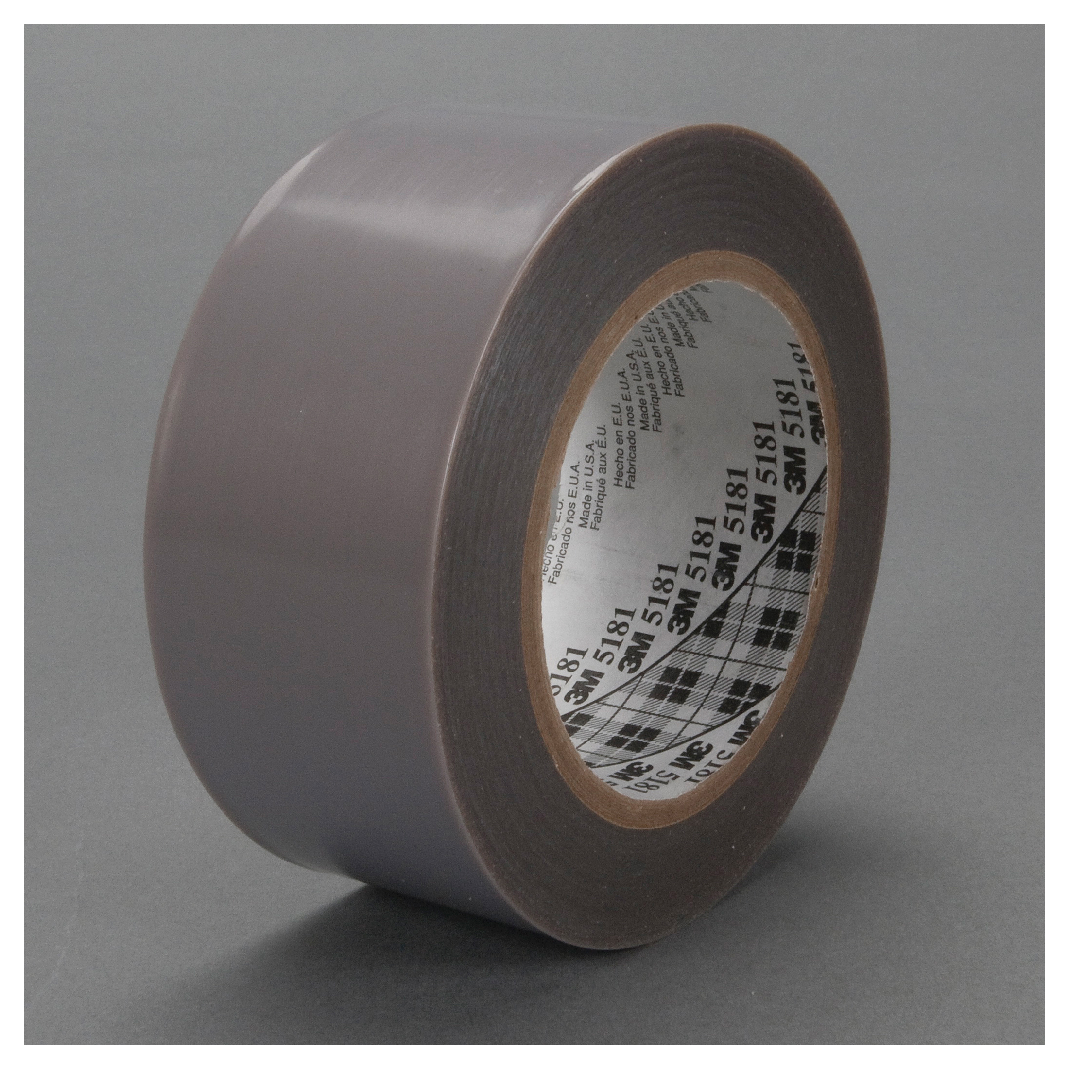 3M™ 021200-48113 General Purpose Film Tape, 36 yd L x 3 in W, 6.5 mil THK, Silicon Adhesive, Skived PTFE Backing, Gray