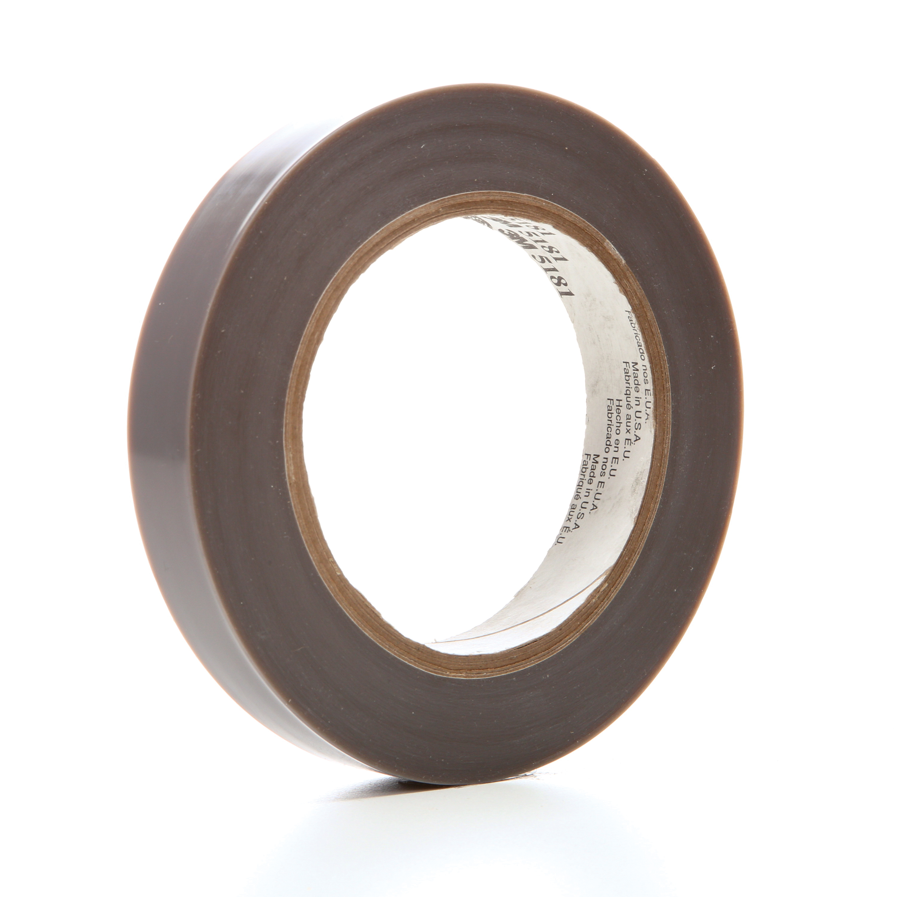 3M™ 021200-48114 General Purpose Film Tape, 36 yd L x 3/4 in W, 6.5 mil THK, Silicon Adhesive, Skived PTFE Backing, Gray