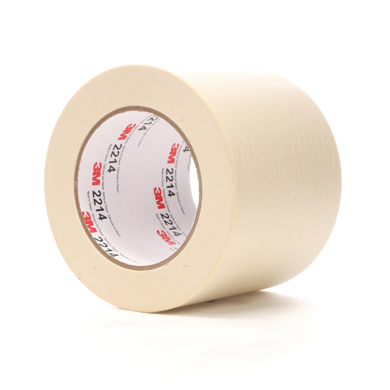 3M™ 021200-48119 Masking Tape, 55 m L x 96 mm W, 5.4 mil THK, Rubber Adhesive, Crepe Paper Backing