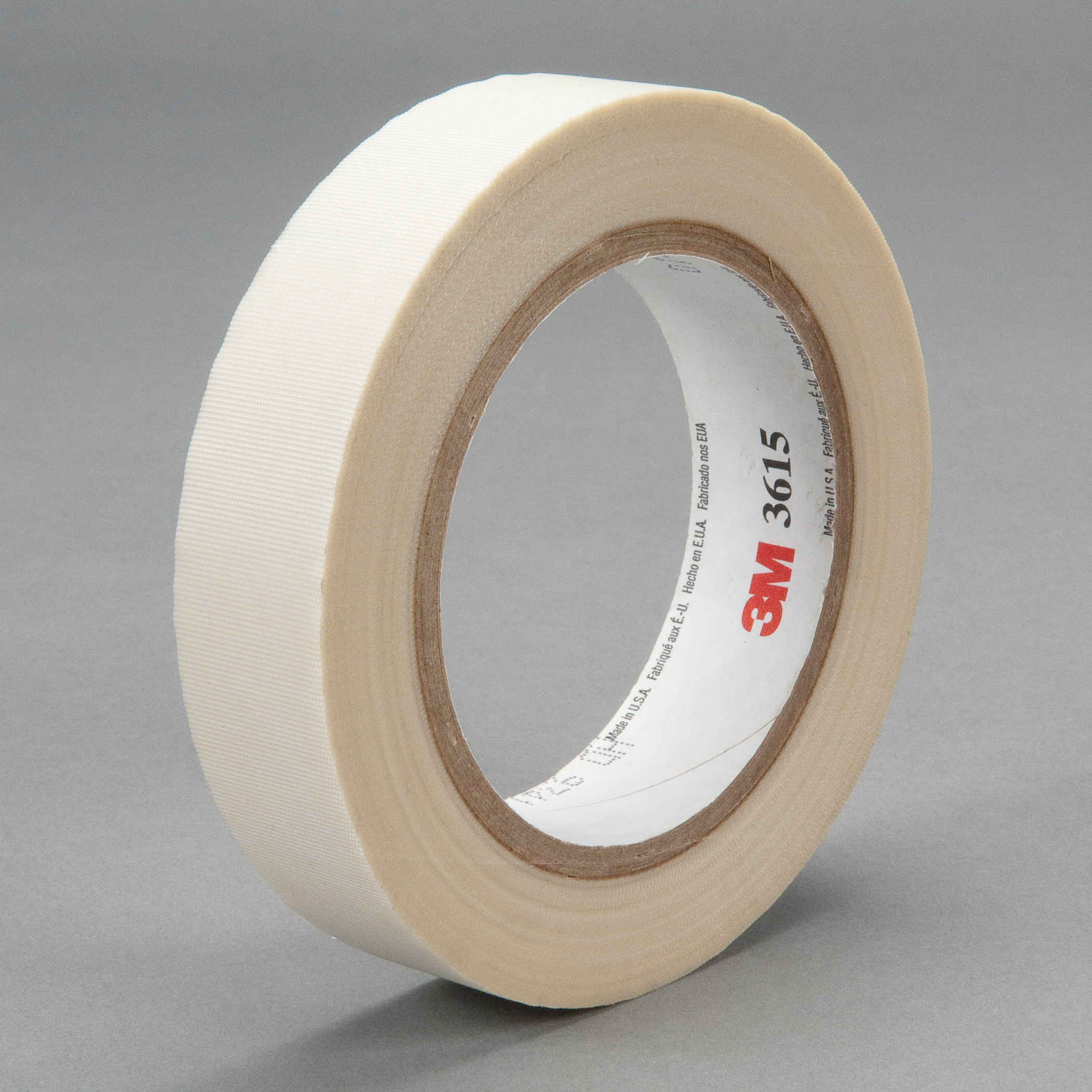 3M™ 021200-48234 Thick General Purpose Tape, 36 yd L x 3/4 in W, 7 mil THK, Silicone Adhesive, Glass Cloth Backing, White