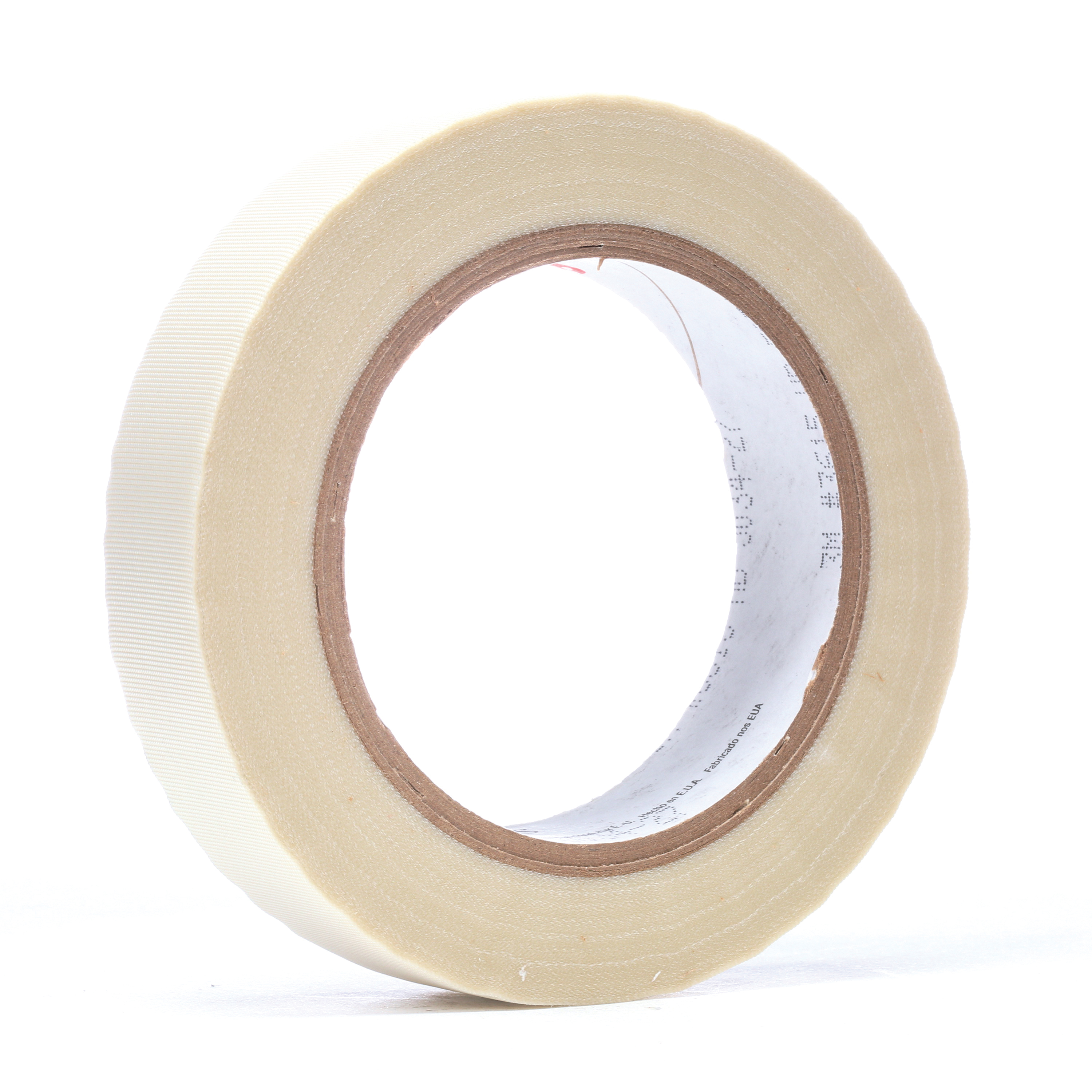 3M™ 021200-48235 Thick General Purpose Tape, 36 yd L x 1 in W, 7 mil THK, Silicone Adhesive, Glass Cloth Backing, White