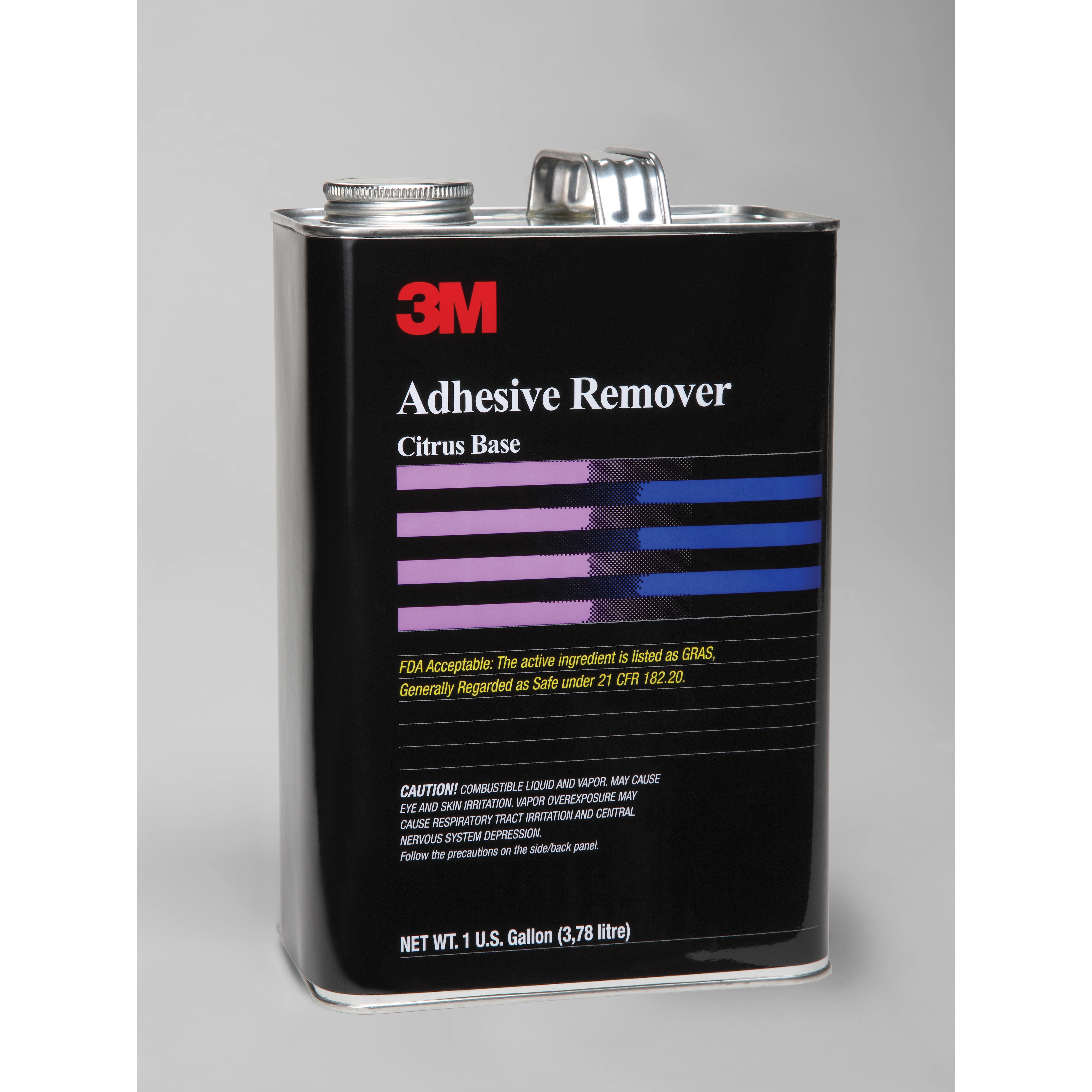 3M™ 021200-49142 ADH REM - BULK Flammable Adhesive Remover, 1 gal Can, Liquid, Pale Yellow, Citrus
