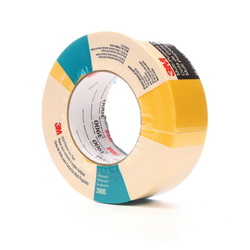 3M™ 021200-49828 3900 Multi-Purpose Duct Tape, 54.8 m L x 48 mm W, 7.6 mil THK, Rubber Adhesive, Polyethylene Over Cloth Scrim Backing, Yellow