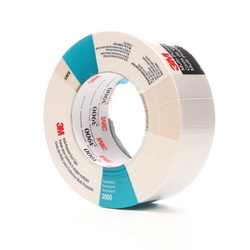 3M™ 021200-49829 3900 Multi-Purpose Duct Tape, 54.8 m L x 48 mm W, 7.6 mil THK, Rubber Adhesive, Polyethylene Over Cloth Scrim Backing, White