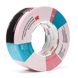 3M™ 021200-49830 3900 Multi-Purpose Duct Tape, 54.8 m L x 48 mm W, 7.6 mil THK, Rubber Adhesive, Polyethylene Over Cloth Scrim Backing, Red