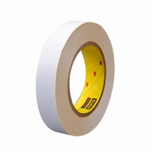 3M™ 021200-59973 Double Coated Film Tape, 36 yd L x 48 in W, 4 mil THK, Rubber Adhesive, Polyester Backing, Clear