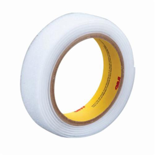 3M™ Scotchmate™ 021200-62542 General Purpose Non-Adhesive Reclosable Loop Fastener Tape, 50 yd L x 1-1/2 in W, 0.12 in THK Engaged, Woven Nylon Backing, White