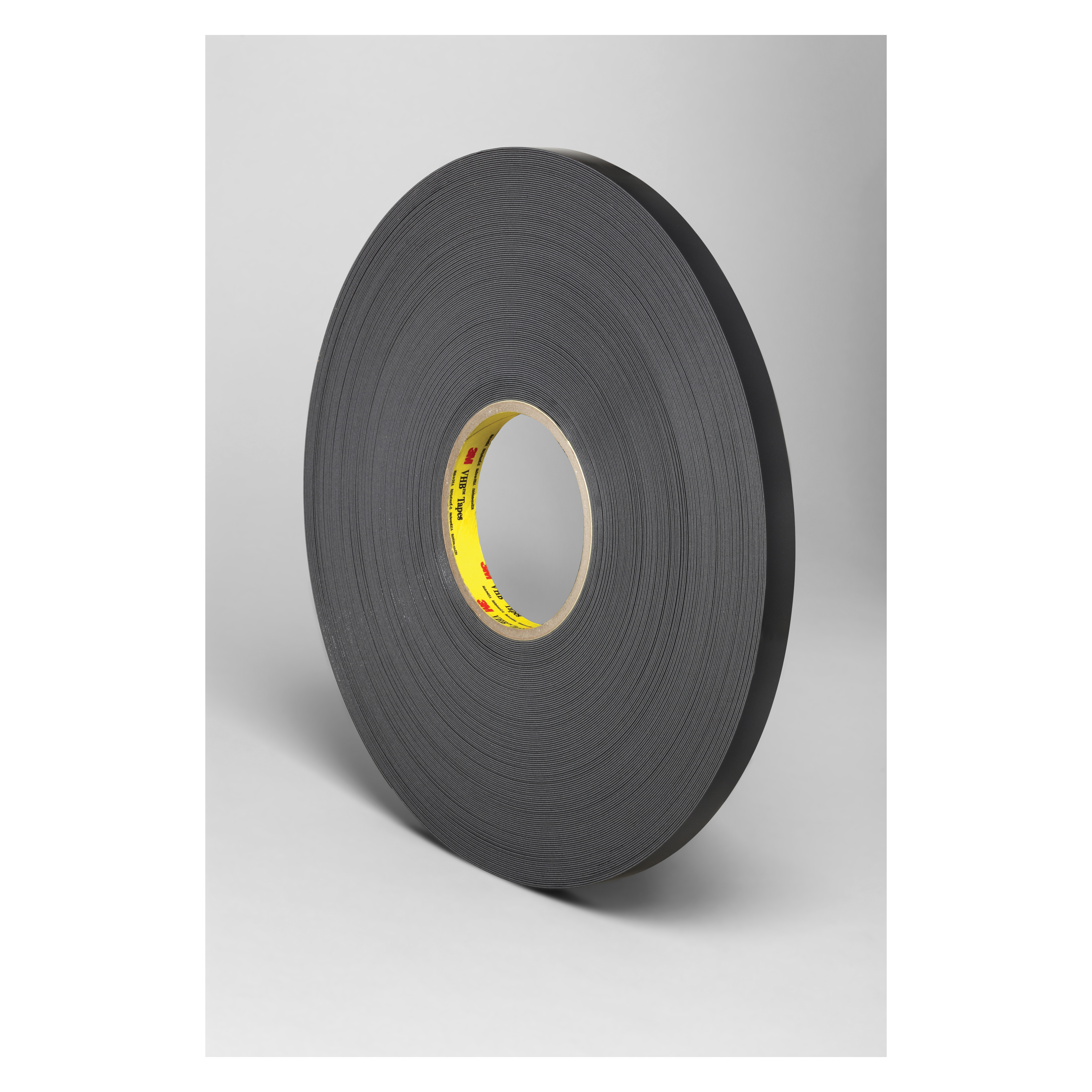 3M™ VHB™ 021200-86293 Pressure Sensitive Double Sided Bonding Tape, 72 yd L x 1/4 in W, 0.025 in THK, General Purpose Acrylic Adhesive, Acrylic Foam Backing, Black