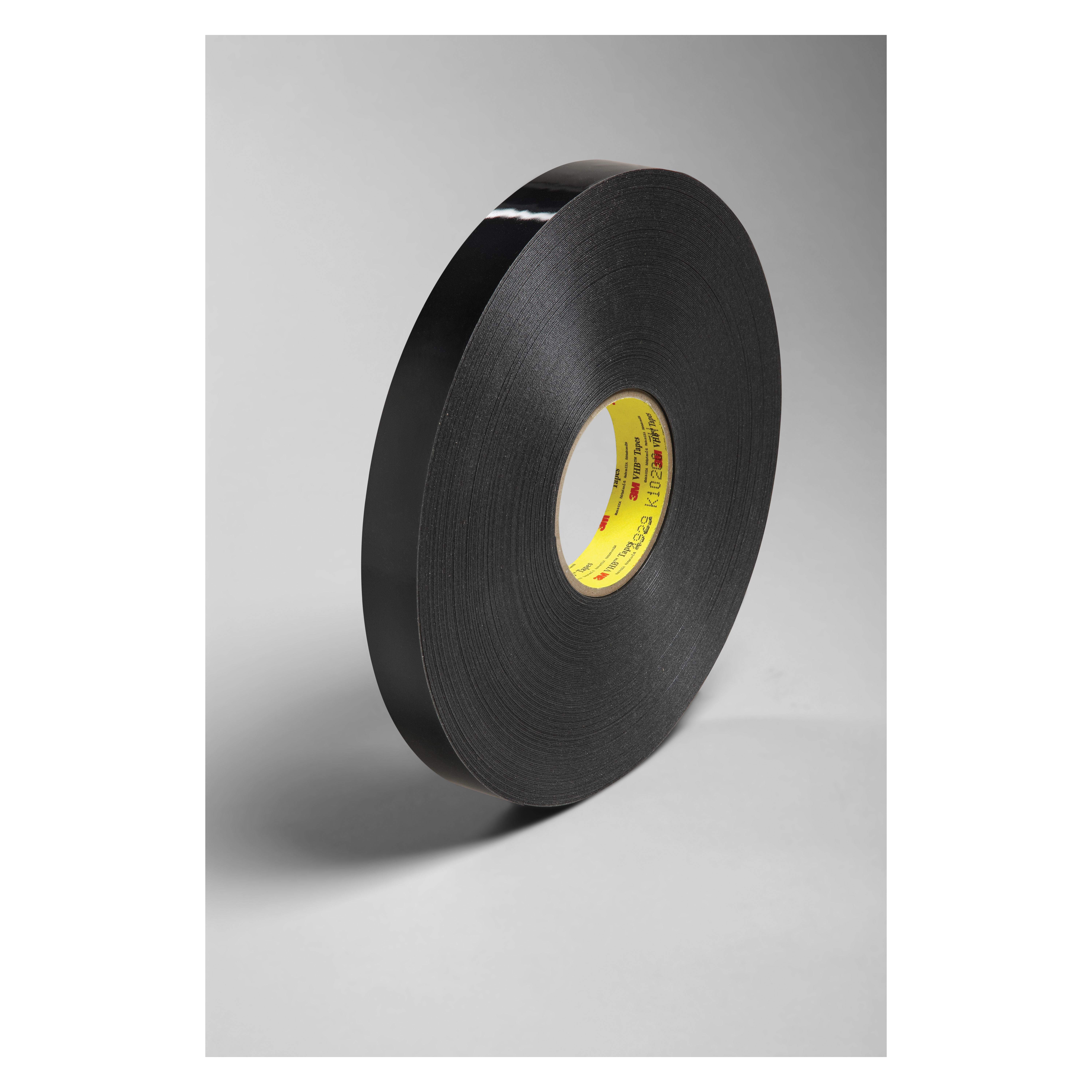3M™ VHB™ 021200-64610 Pressure Sensitive Double Sided Bonding Tape, 72 yd L x 1 in W, 0.025 in THK, General Purpose Acrylic Adhesive, Acrylic Foam Backing, Black