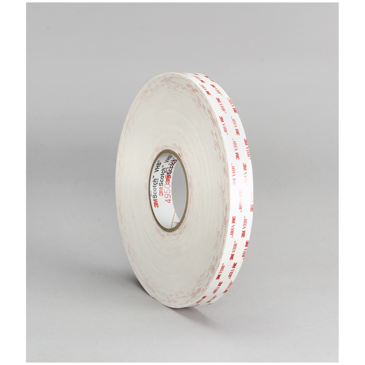 3M™ VHB™ 021200-64614 Pressure Sensitive Double Sided Bonding Tape, 72 yd L x 3/4 in W, 0.025 in THK, General Purpose Acrylic Adhesive, Acrylic Foam Backing, White