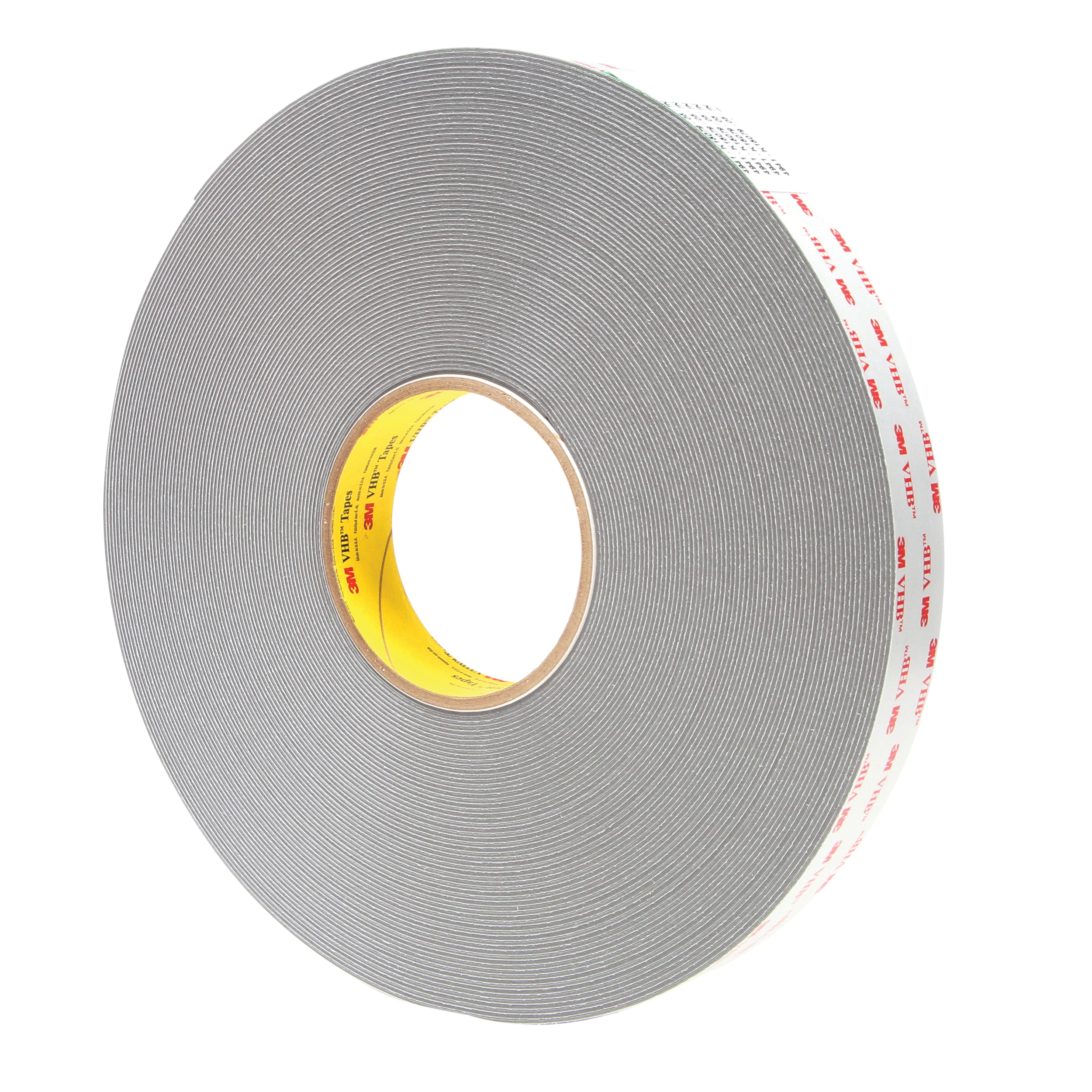 3M™ VHB™ 021200-64888 Pressure Sensitive Double Sided Bonding Tape, 36 yd L x 1 in W, 0.045 in THK, Multi-Purpose Acrylic Adhesive, Acrylic Foam Backing, Gray