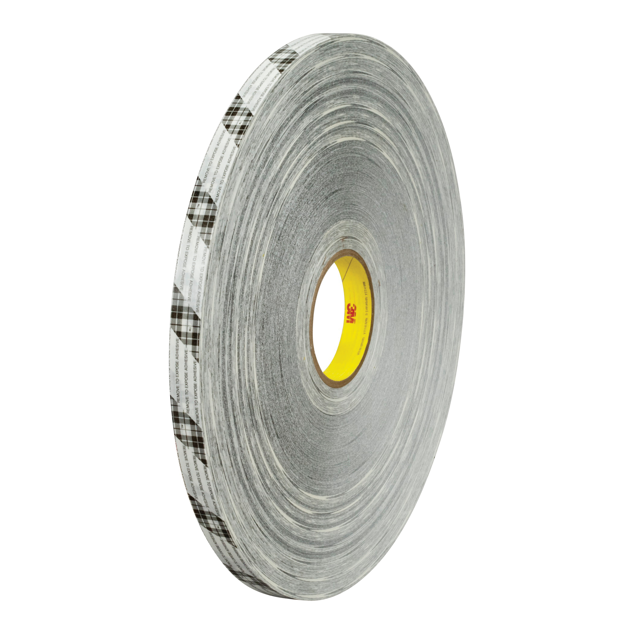 3M™ 021200-65651 Extended Liner Double Coated Tape, 750 yd L x 1 in W, 2.5 mil THK, 770 Rubber Resin Adhesive, Tissue Paper Backing, Off-White Translucent