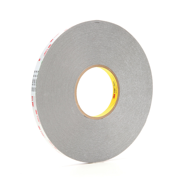 3M™ VHB™ 021200-65746 Pressure Sensitive Double Sided Bonding Tape, 72 yd L x 1/2 in W, 0.015 in THK, Multi-Purpose Acrylic Adhesive, Acrylic Foam Backing, Gray