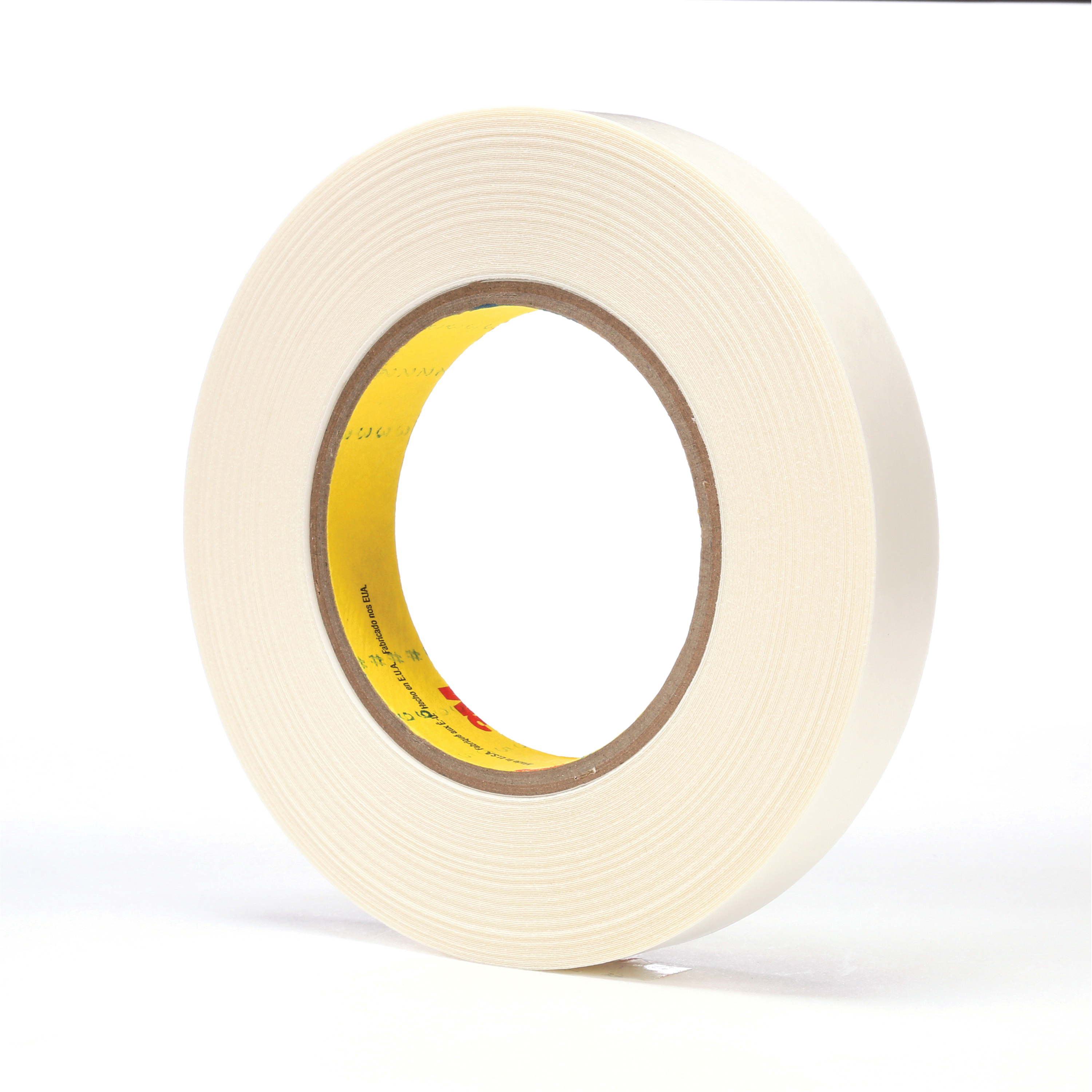 3M™ 021200-65872 Double Coated Tape, 36 yd L x 3/4 in W, 9 mil THK, Synthetic Rubber Adhesive, Polyethylene Backing, White