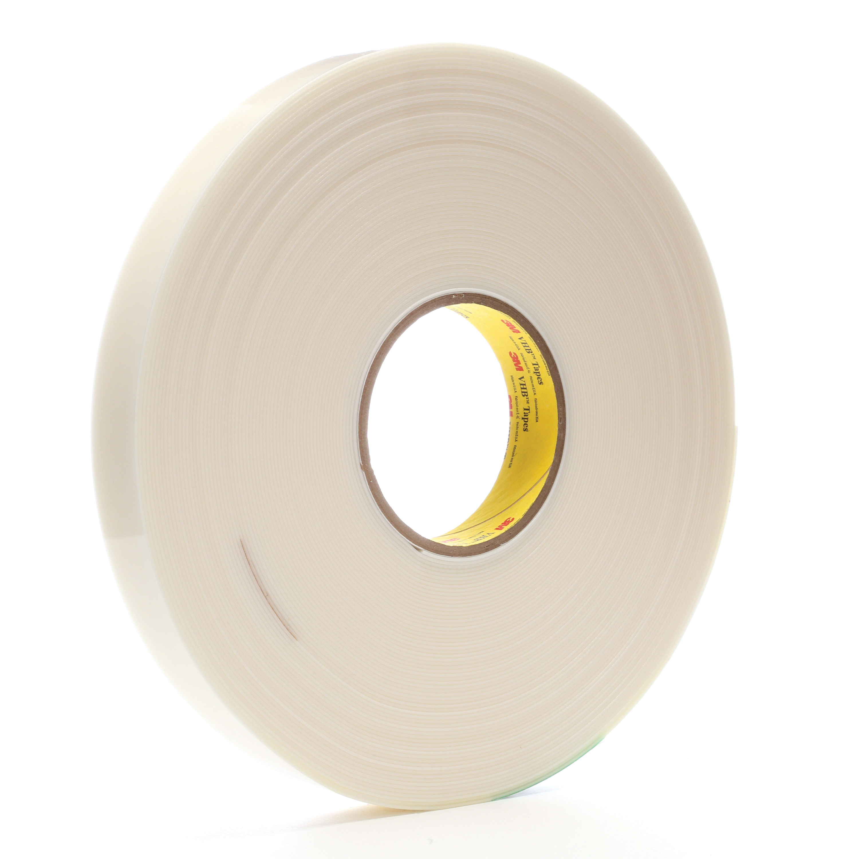 3M™ VHB™ 021200-67287 Pressure Sensitive Double Sided Bonding Tape, 36 yd L x 1 in W, 0.045 in THK, Low Temperature Acrylic Adhesive, Acrylic Foam Backing, White