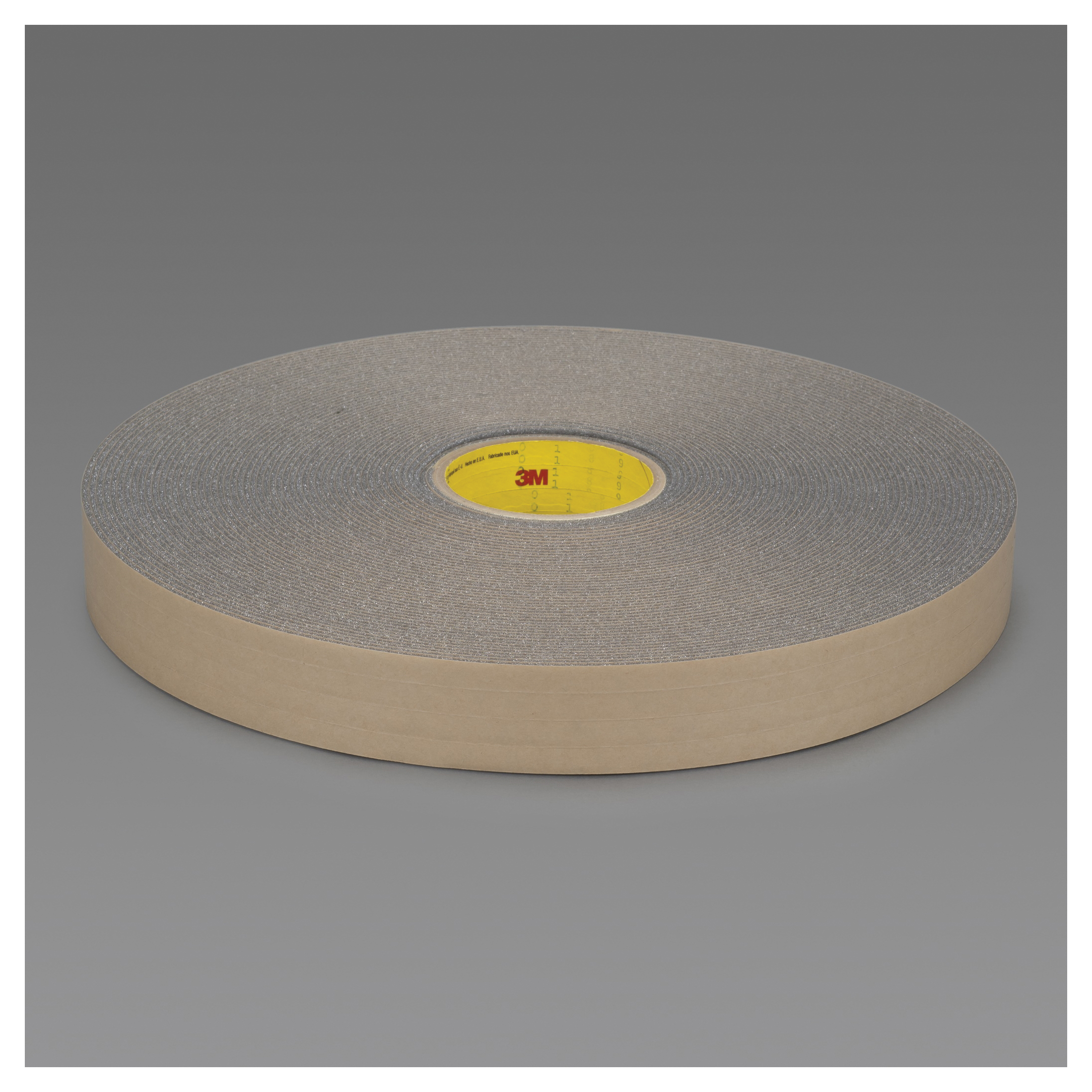 3M™ 051131-06448 4318 Single Coated Open Cell Foam Tape, 36 yd L x 3/4 in W, 125 mil THK, Acrylic Adhesive, Urethane Foam Backing, Charcoal Gray