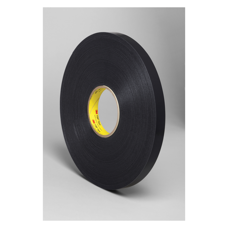 3M™ VHB™ 021200-67492 Pressure Sensitive Double Sided Bonding Tape, 72 yd L x 3/4 in W, 0.025 in THK, General Purpose Acrylic Adhesive, Acrylic Foam Backing, Black