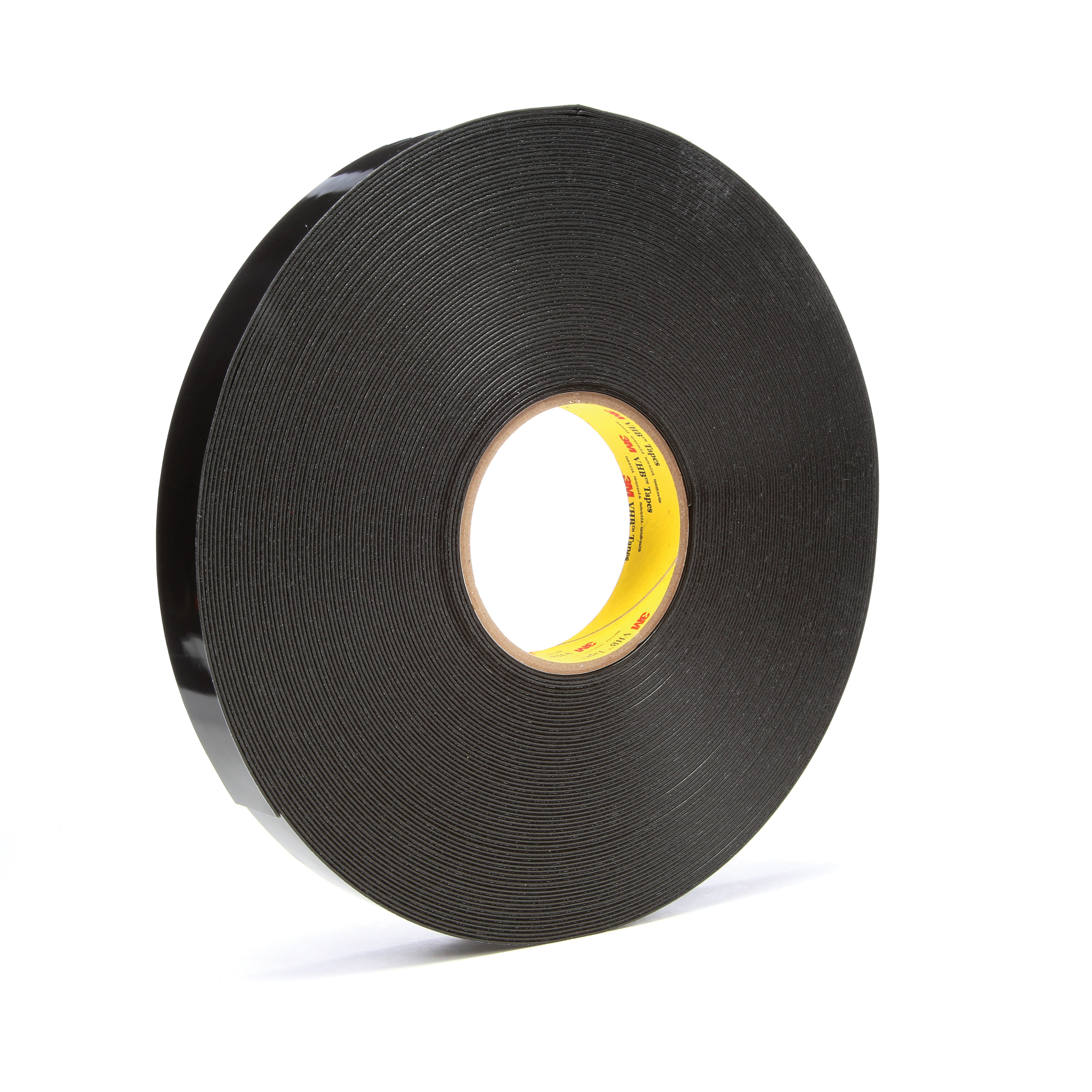 3M™ VHB™ 021200-67496 High Strength Double Sided Bonding Tape, 36 yd L x 1 in W, 0.045 in THK, General Purpose Acrylic Adhesive, Acrylic Foam Backing, Black