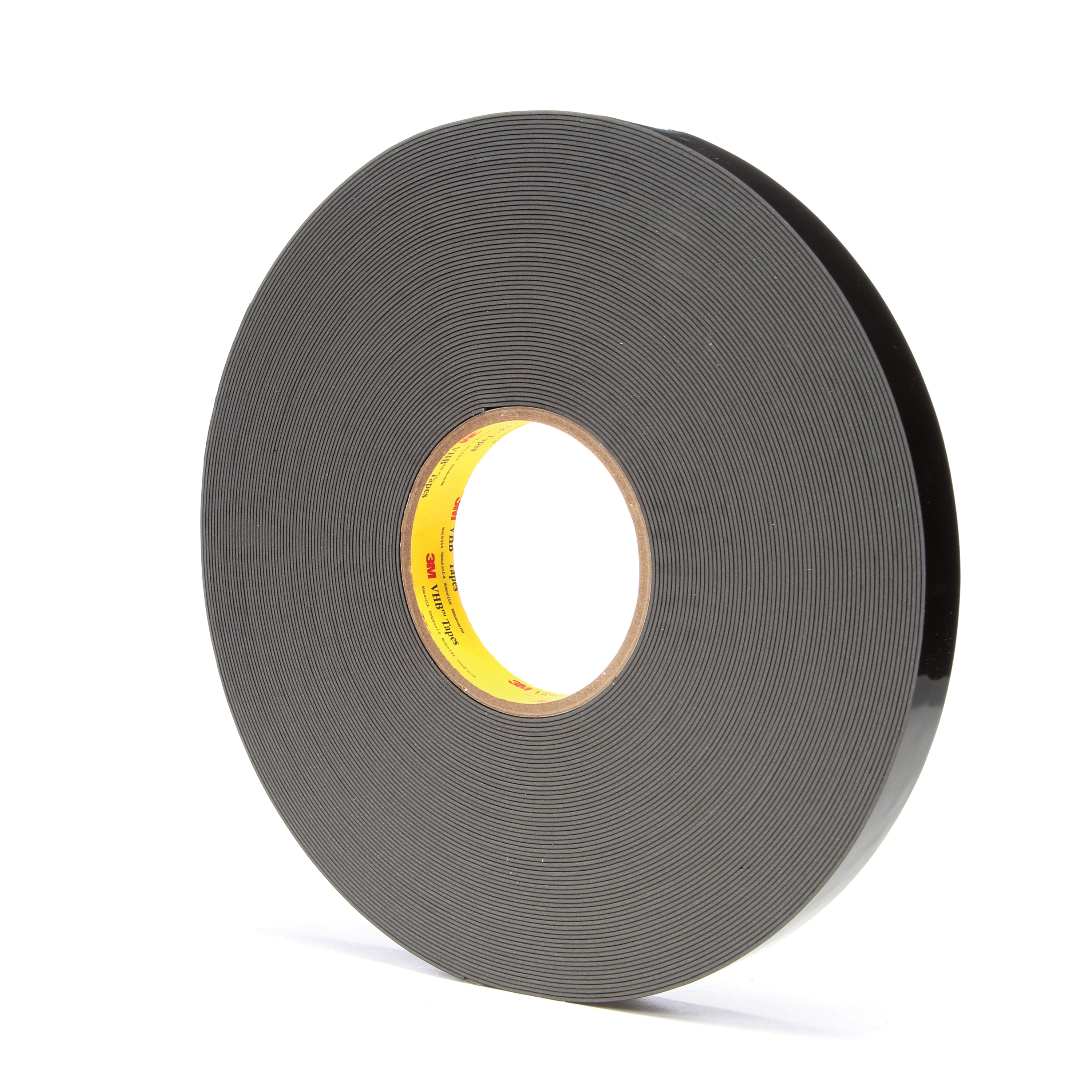 3M™ VHB™ 021200-67497 High Strength Double Sided Bonding Tape, 36 yd L x 3/4 in W, 0.045 in THK, General Purpose Acrylic Adhesive, Acrylic Foam Backing, Black