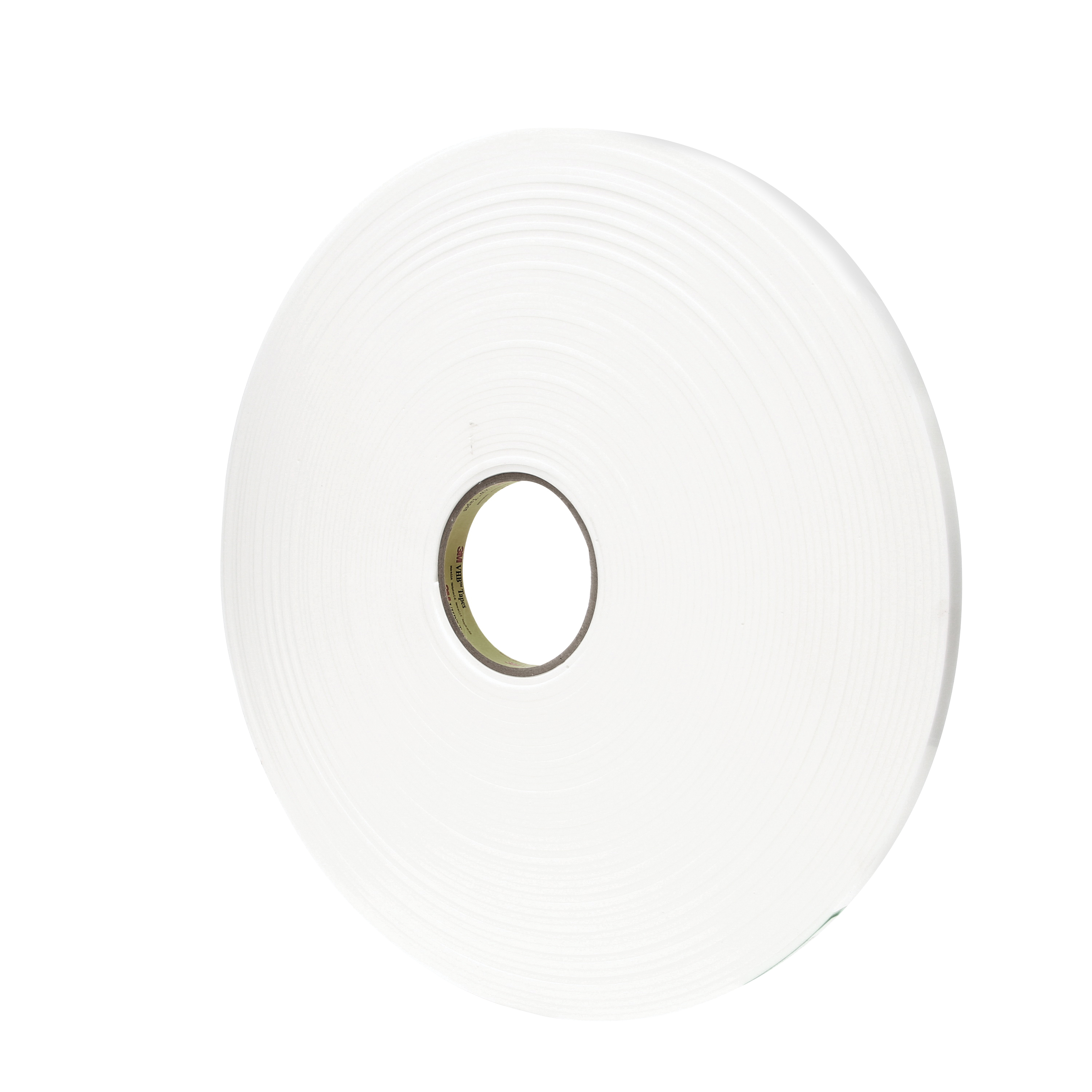 3M™ VHB™ 021200-67503 Pressure Sensitive Double Sided Bonding Tape, 36 yd L x 1/2 in W, 0.12 in THK, General Purpose Acrylic Adhesive, Acrylic Foam Backing, White