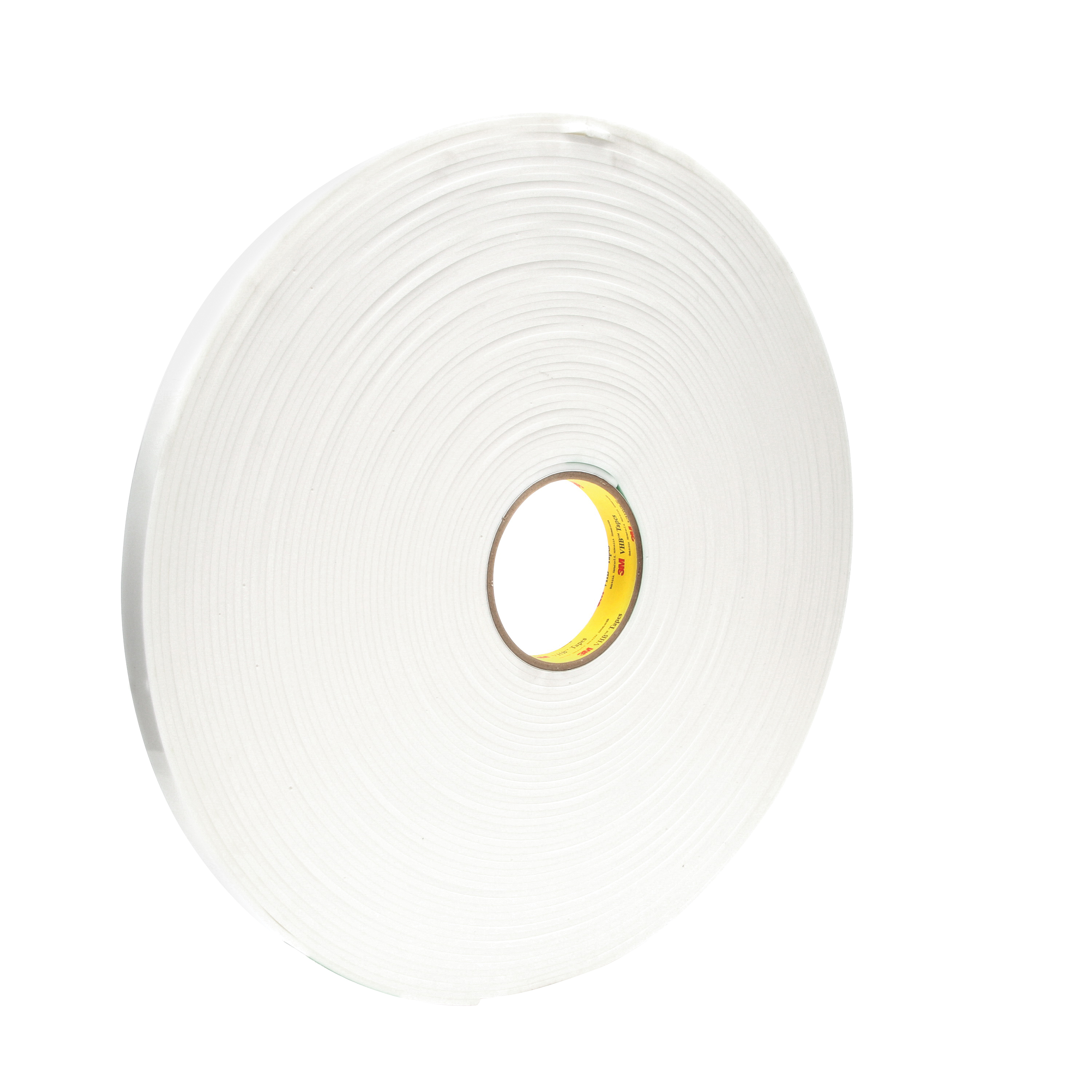 3M™ VHB™ 021200-67504 Pressure Sensitive Double Sided Bonding Tape, 36 yd L x 3/4 in W, 0.12 in THK, General Purpose Acrylic Adhesive, Acrylic Foam Backing, White