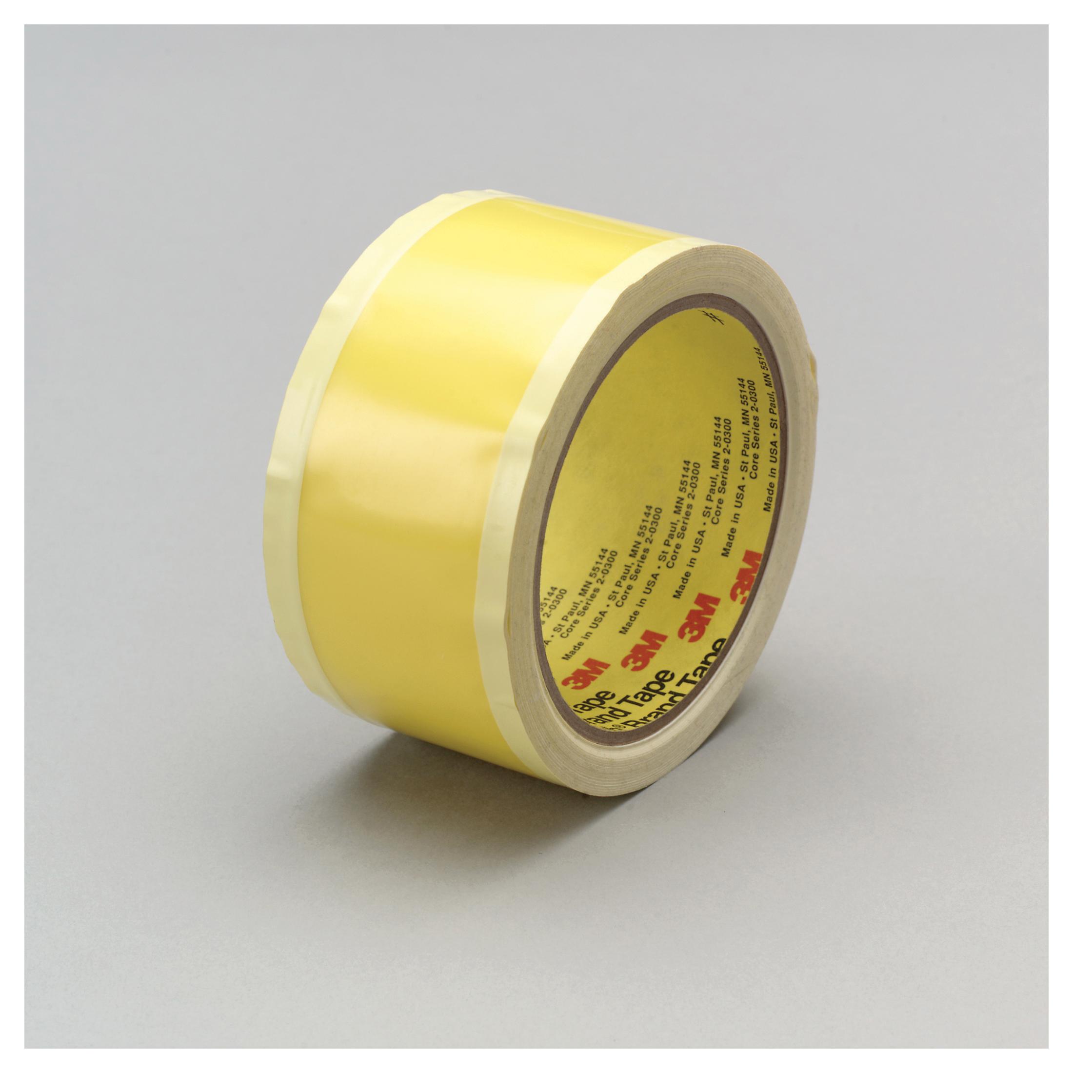 3M™ 021200-67948 General Purpose Riveters Film Tape, 36 yd L x 2 in W, 3 mil THK, Acrylic Adhesive, 2 mil Polyethylene Backing, Yellow