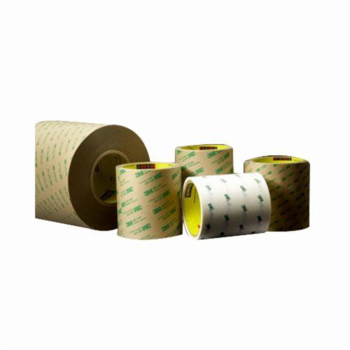 3M™ 021200-68795 Medium Tack Adhesive Transfer Tape, 60 yd L x 24 in W, 11 mil THK, 2 mil 200MP Acrylic Adhesive, Clear