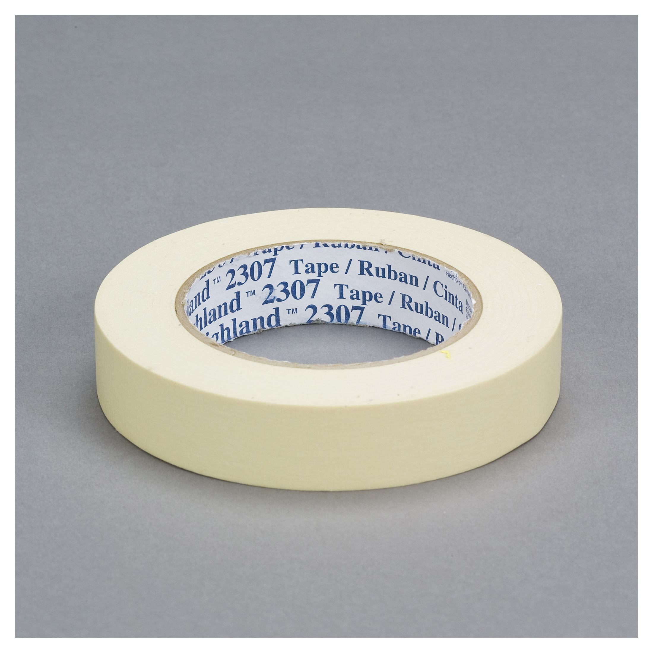 3M™ 021200-71120 2307 General Purpose Masking Tape, 55 m L x 48 mm W, 5.2 mil THK, Rubber Adhesive, Crepe Paper Backing