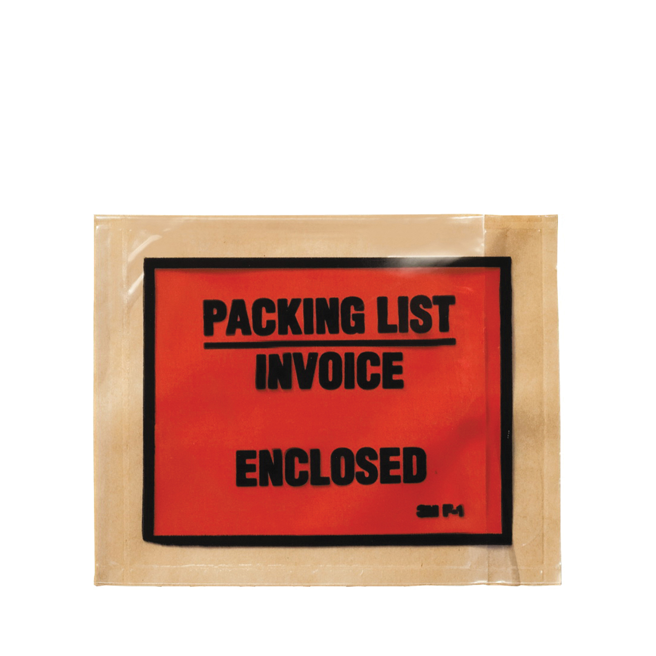 3M™ 021200-73711 Full Face Printed Packing List Envelope, 5-1/2 in L x 4-1/2 in W, Polyethylene Film Backing, Clear